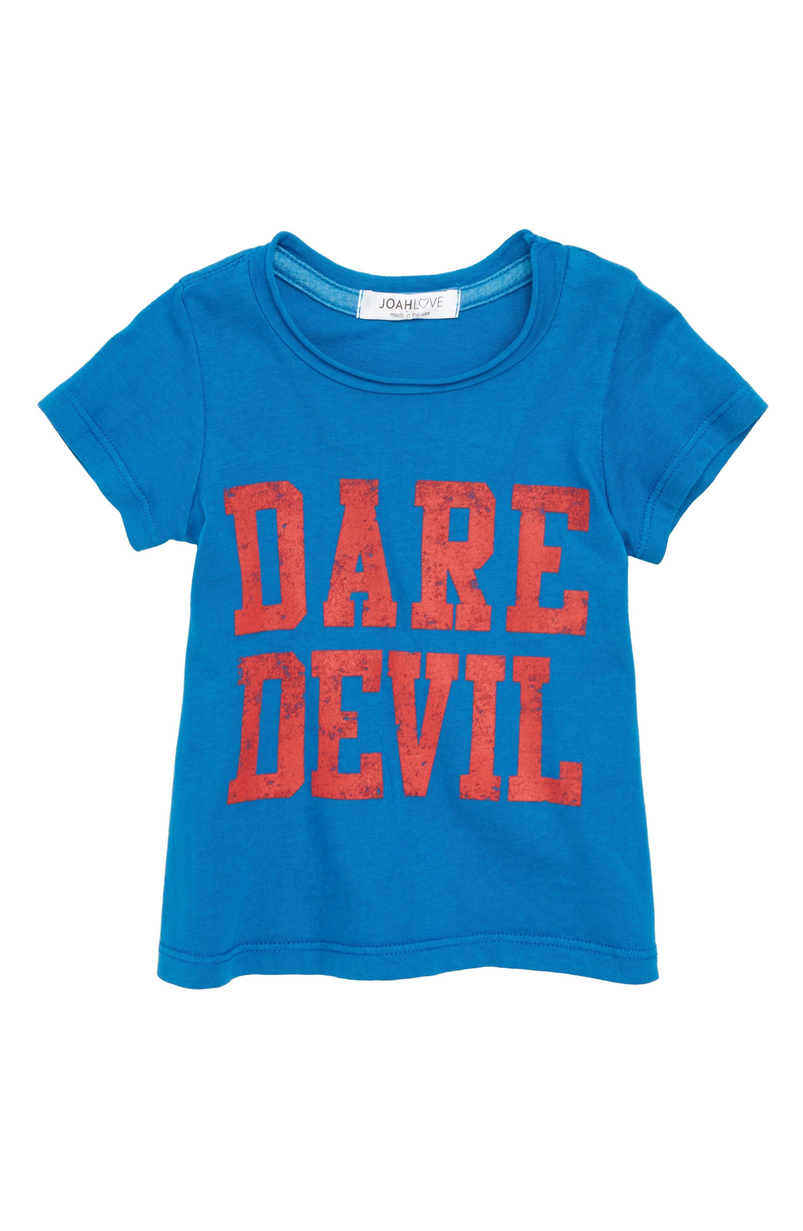 Dare Devil T-Shirt,                         Main,                         color, Cancun Blue