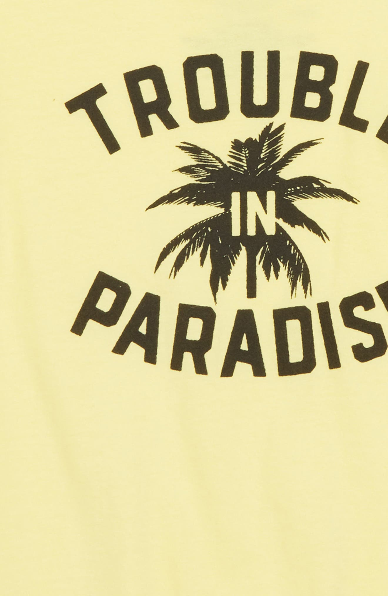 Trouble in Paradise Graphic T-Shirt,                             Alternate thumbnail 2, color,                             Light Yellow