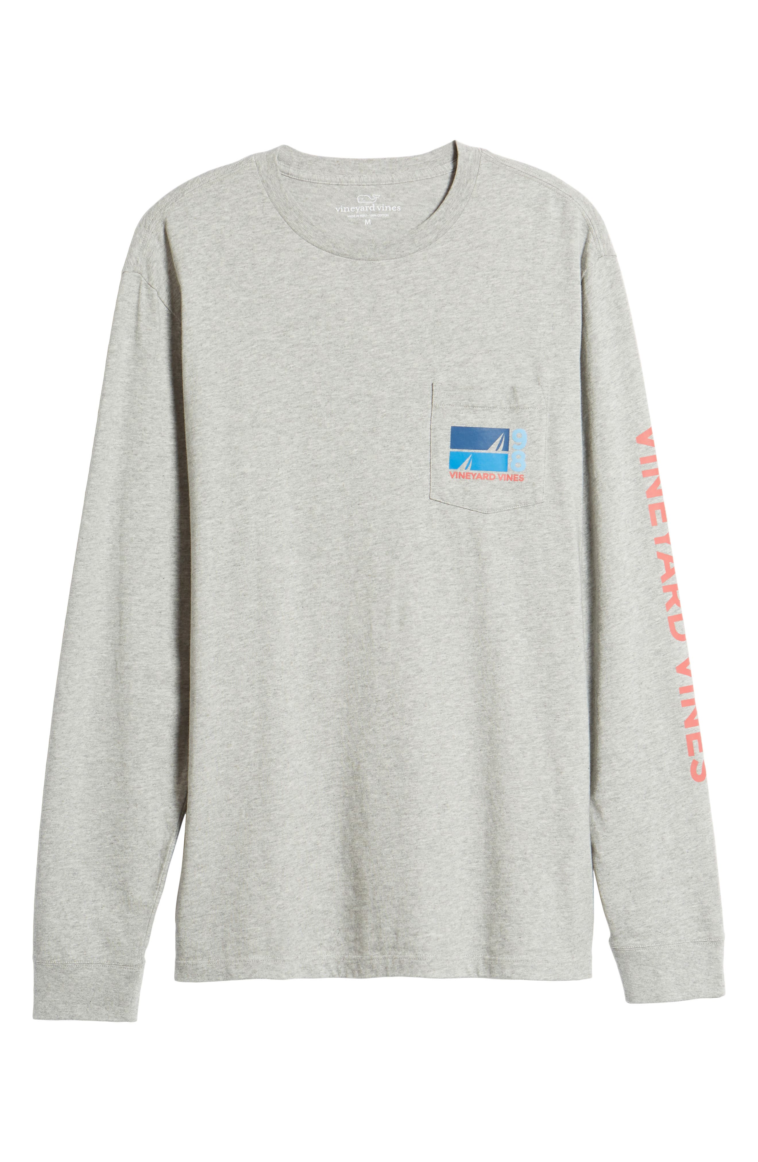 Sailing Blue Regular Fit Crewneck T-Shirt,                             Alternate thumbnail 6, color,                             Gray Heather