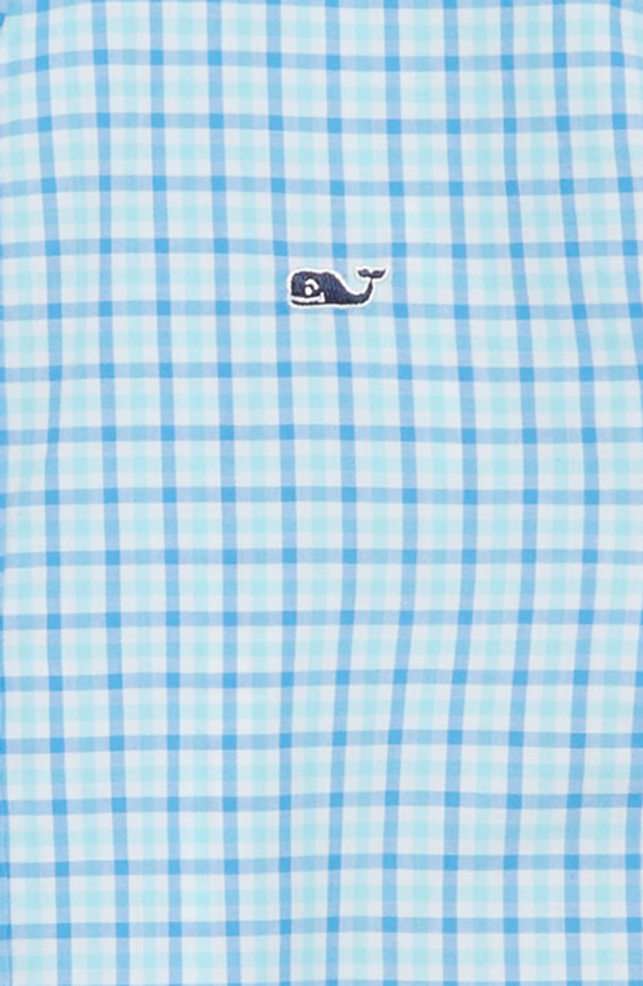 Point Gammon Gingham Whale Shirt,                             Alternate thumbnail 2, color,                             Poolside