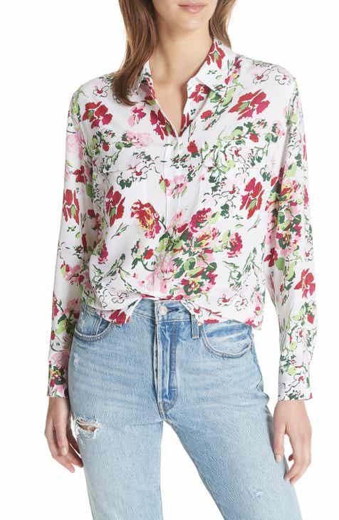 Equipment womens shirts blouses nordstrom equipment signature floral silk shirt mightylinksfo
