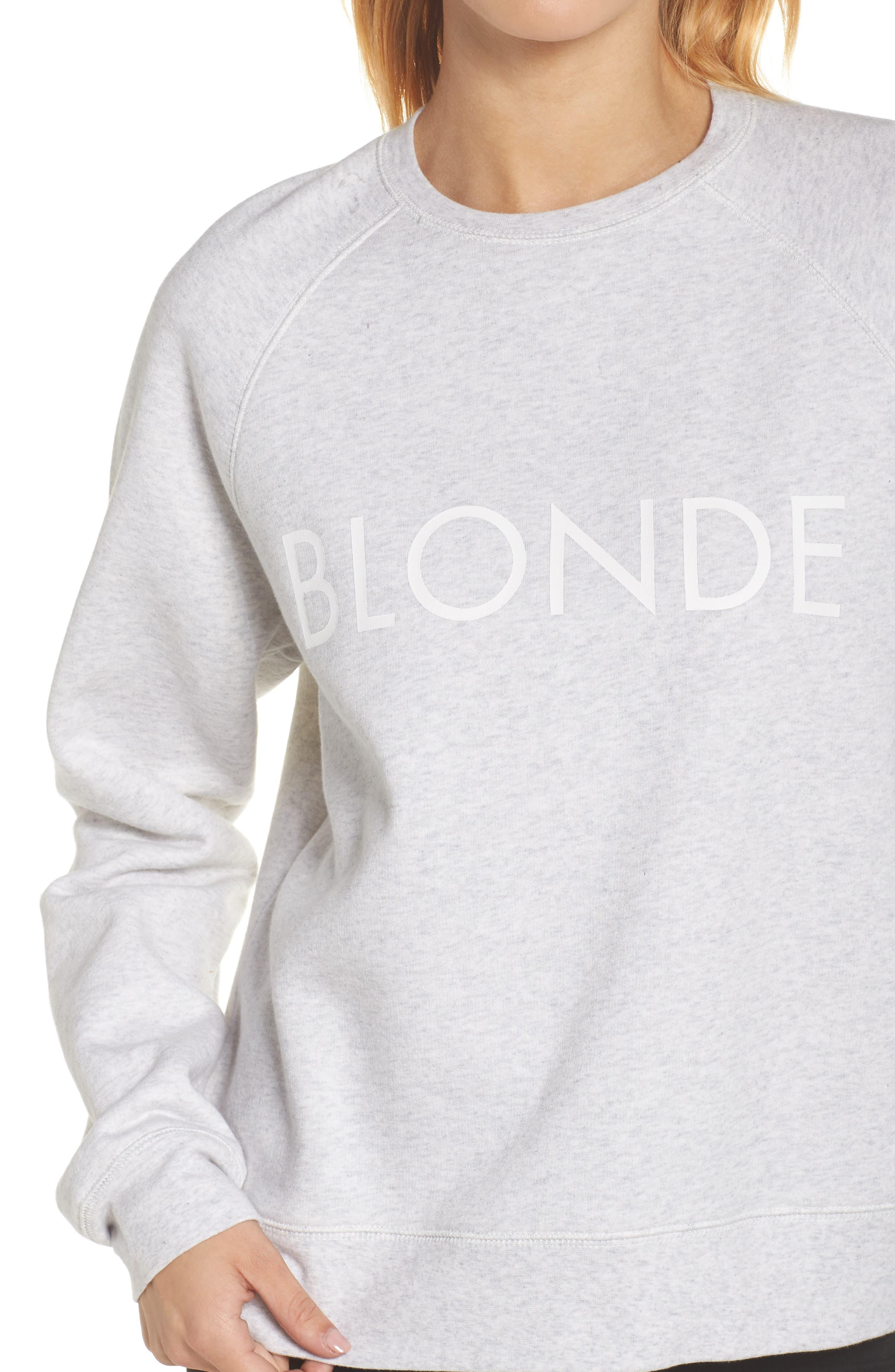 Blonde Sweatshirt,                             Alternate thumbnail 4, color,                             Oatmeal