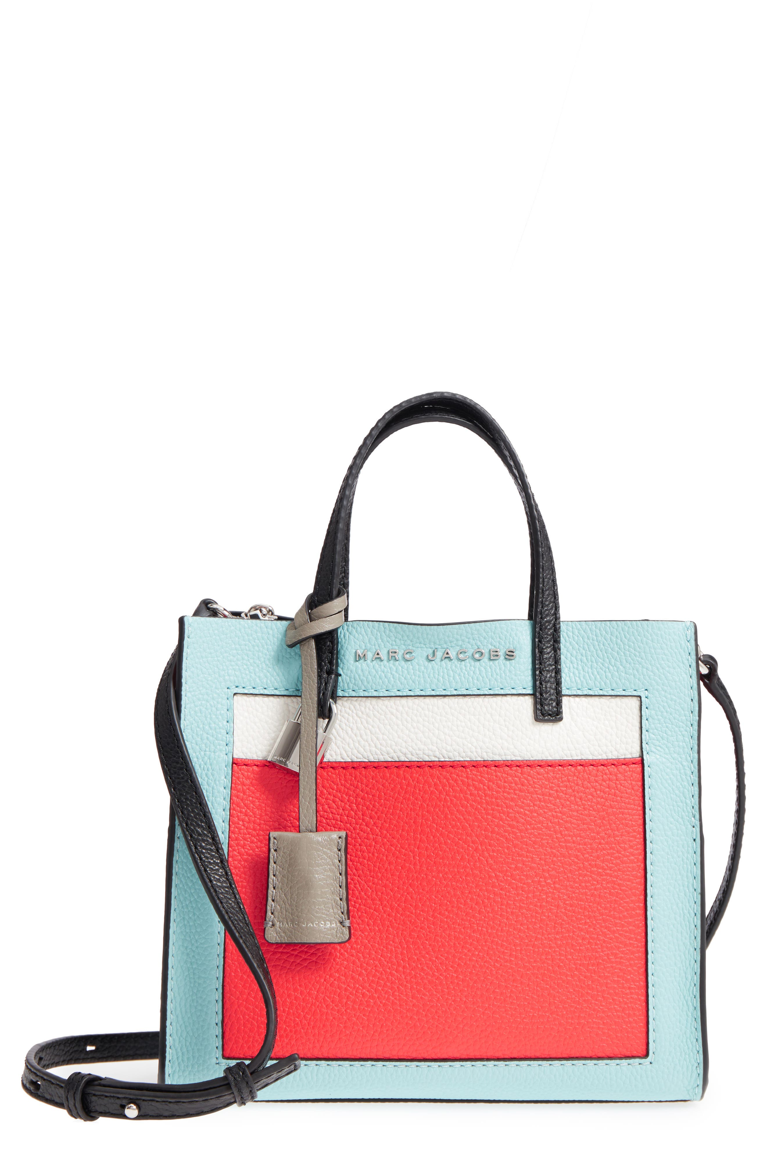 MARC JACOBS Mini Grid Leather Tote