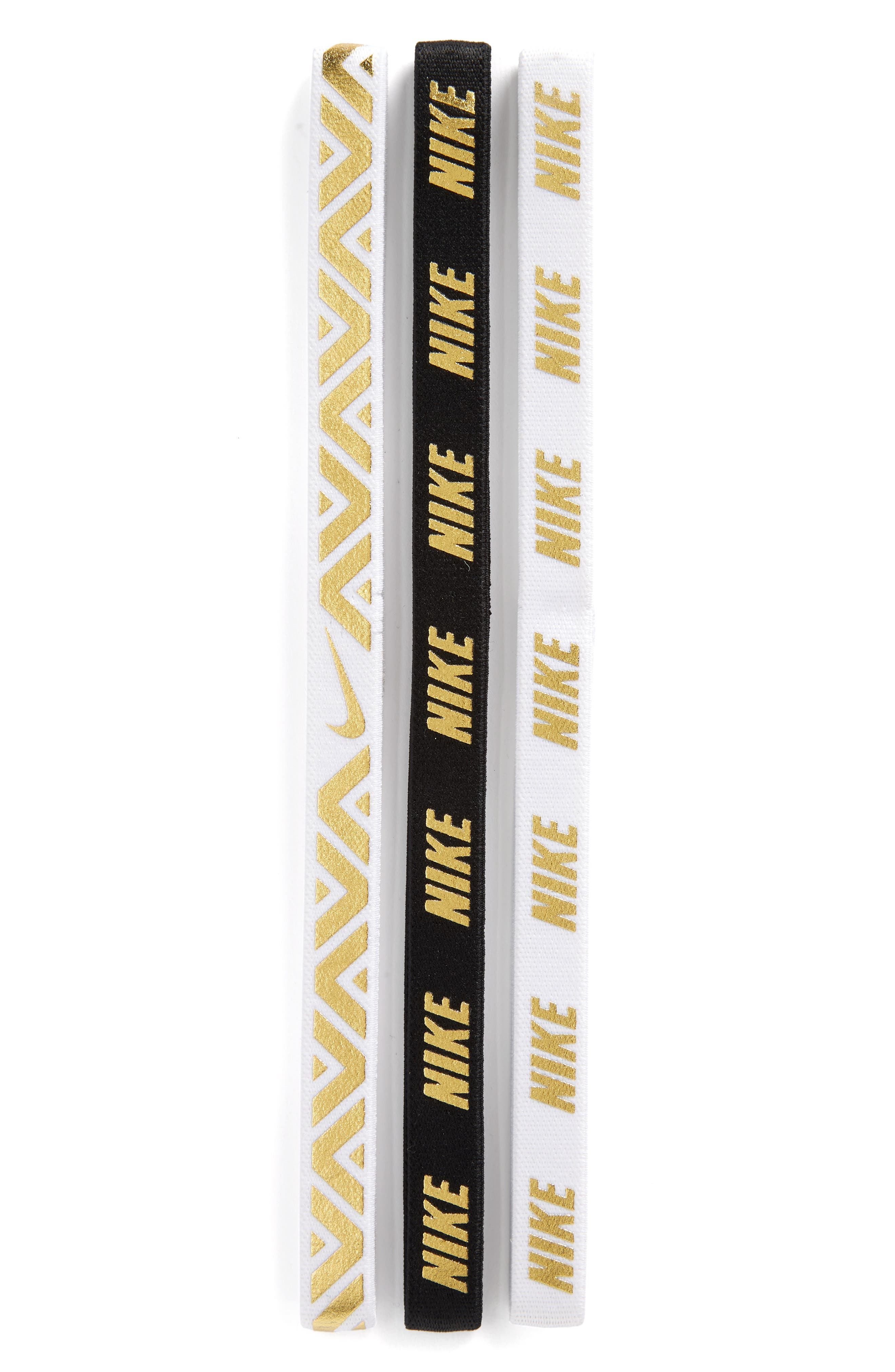 3-Pack Headbands,                             Main thumbnail 1, color,                             White/ White/ Black