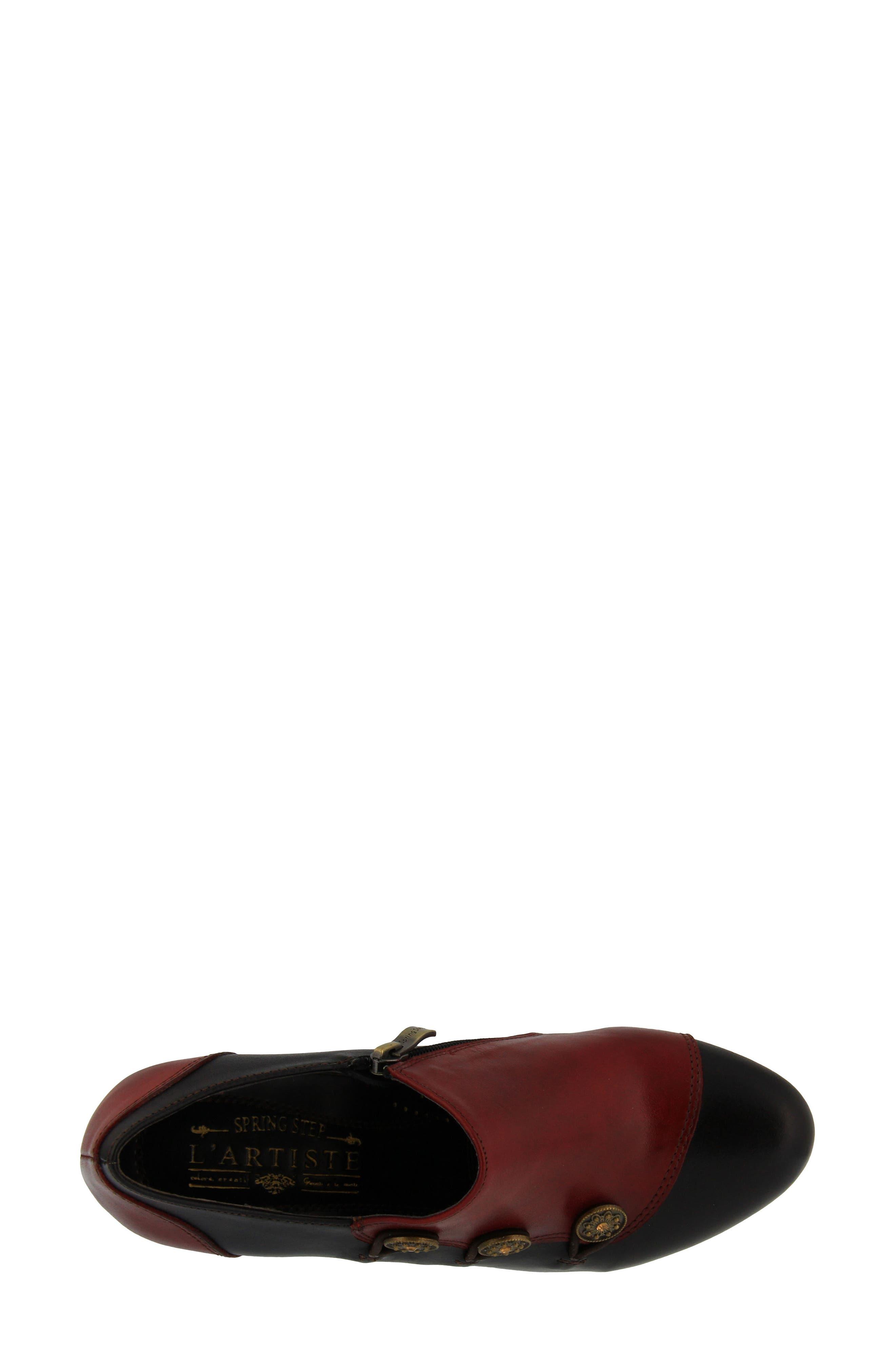 L'Artiste Greentea Pump,                             Alternate thumbnail 4, color,                             Red Multi Leather