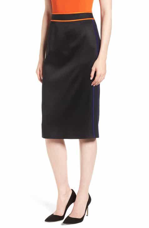 BOSS Vartona Piped Pencil Skirt
