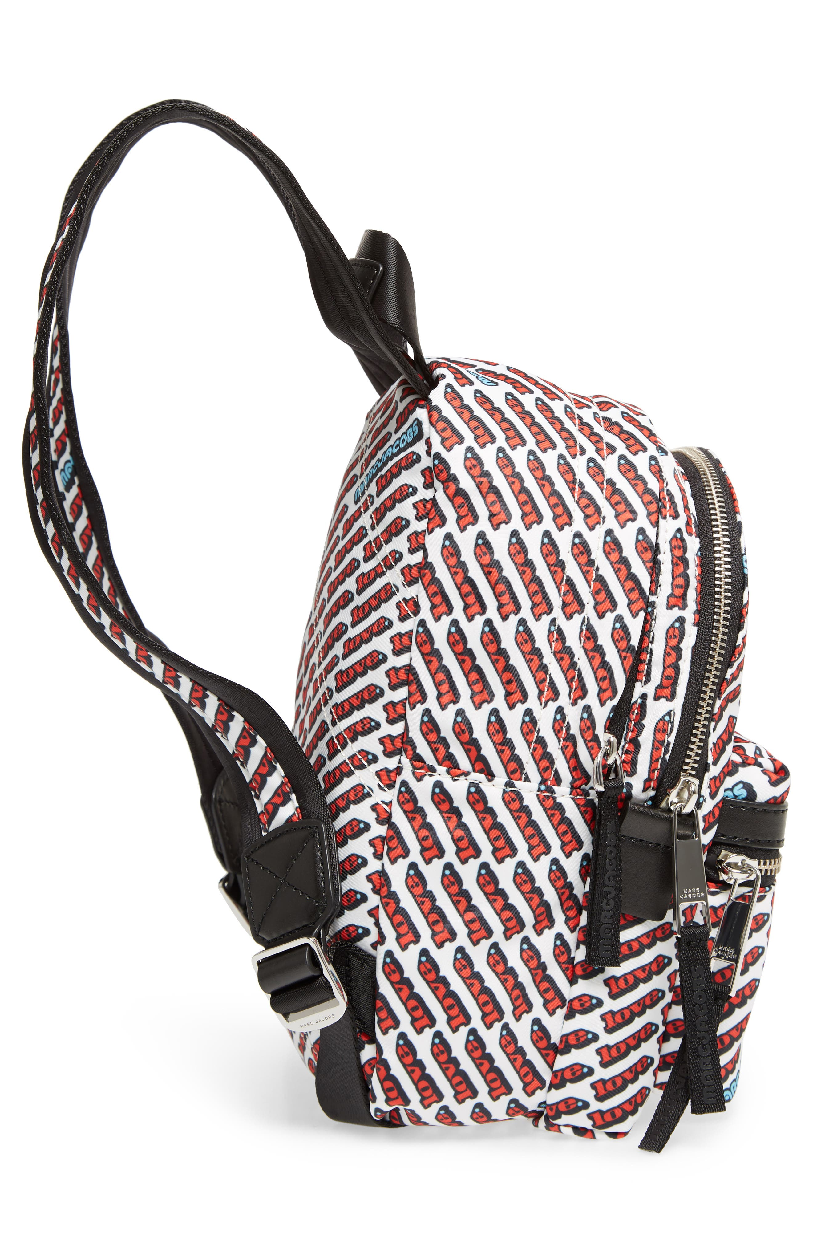 Mini Trek Love Backpack,                             Alternate thumbnail 4, color,                             Red Multi