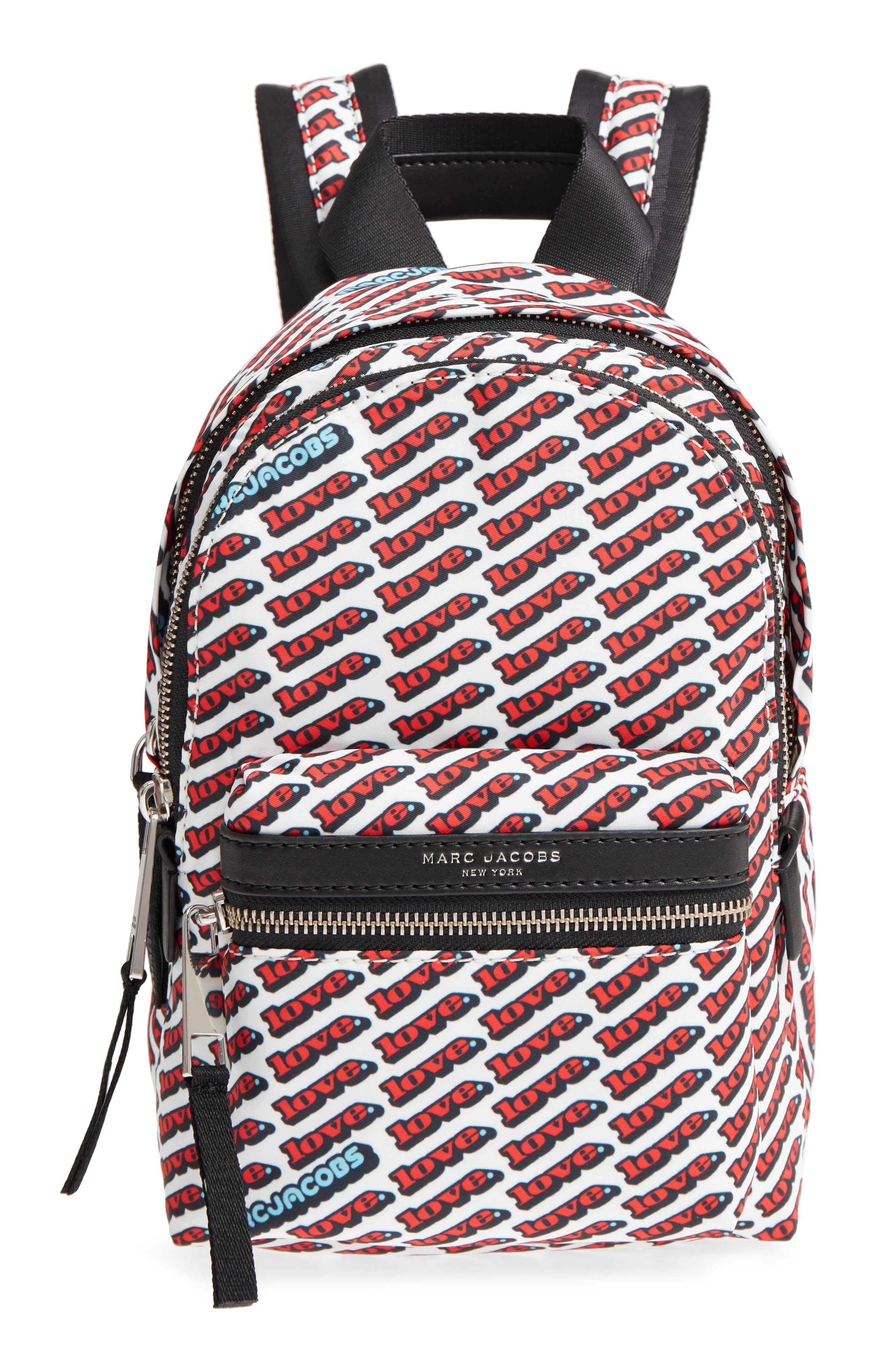 Mini Trek Love Backpack,                             Main thumbnail 1, color,                             Red Multi