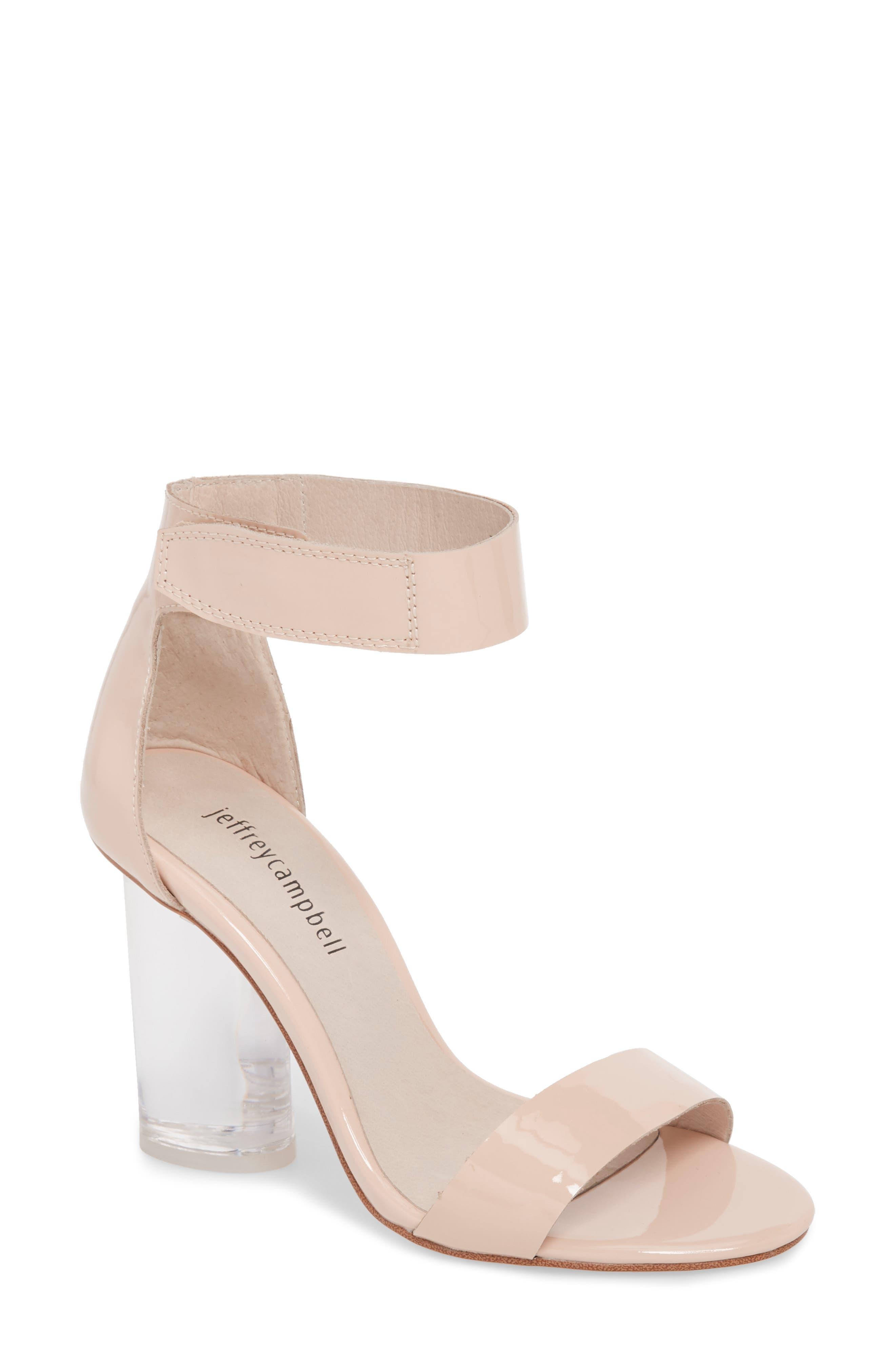 Jeffrey Campbell Alessa Clear Heel Sandal (Women)