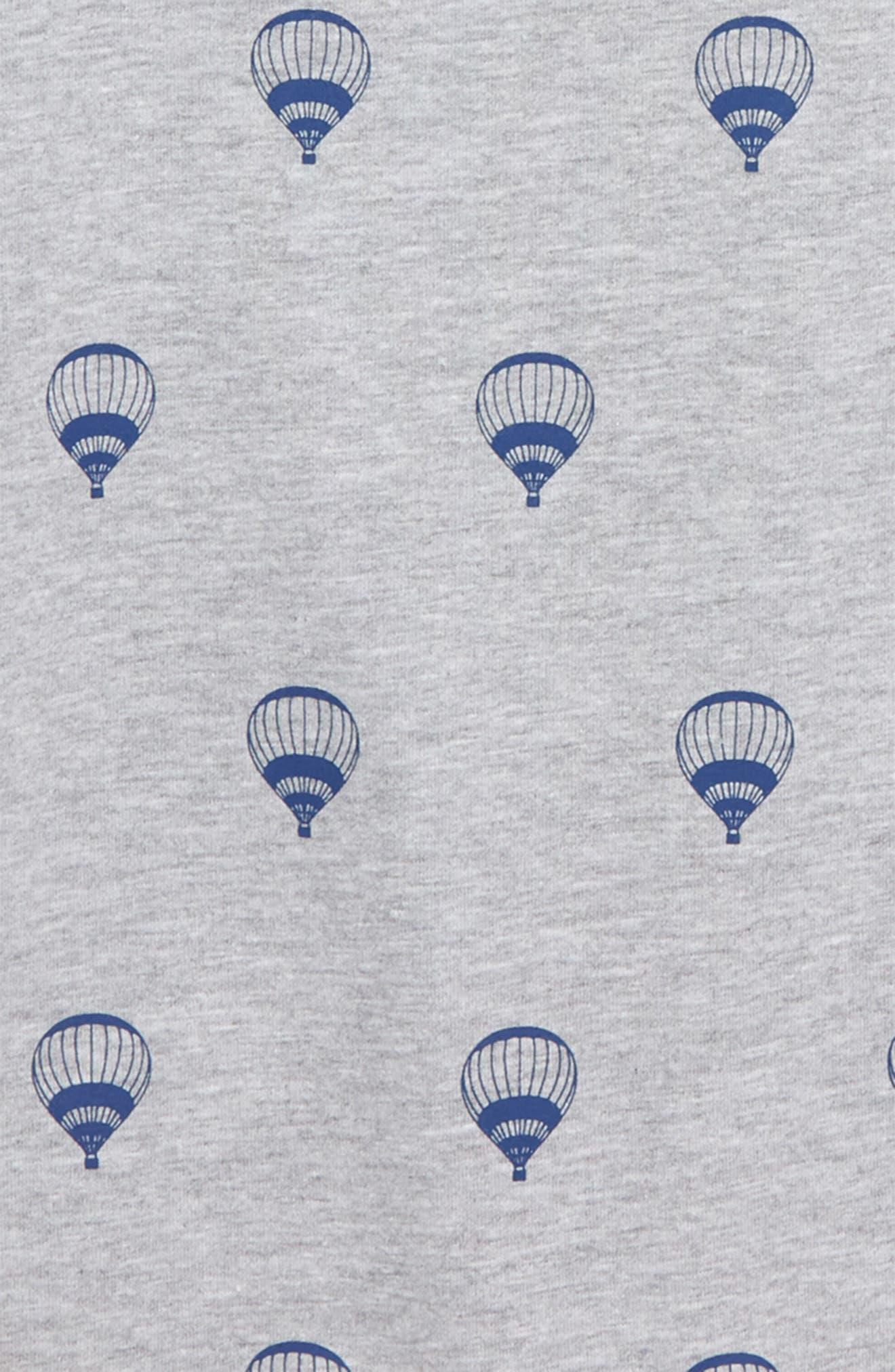 Hot Air Balloon Print Henley,                             Alternate thumbnail 2, color,                             Grey