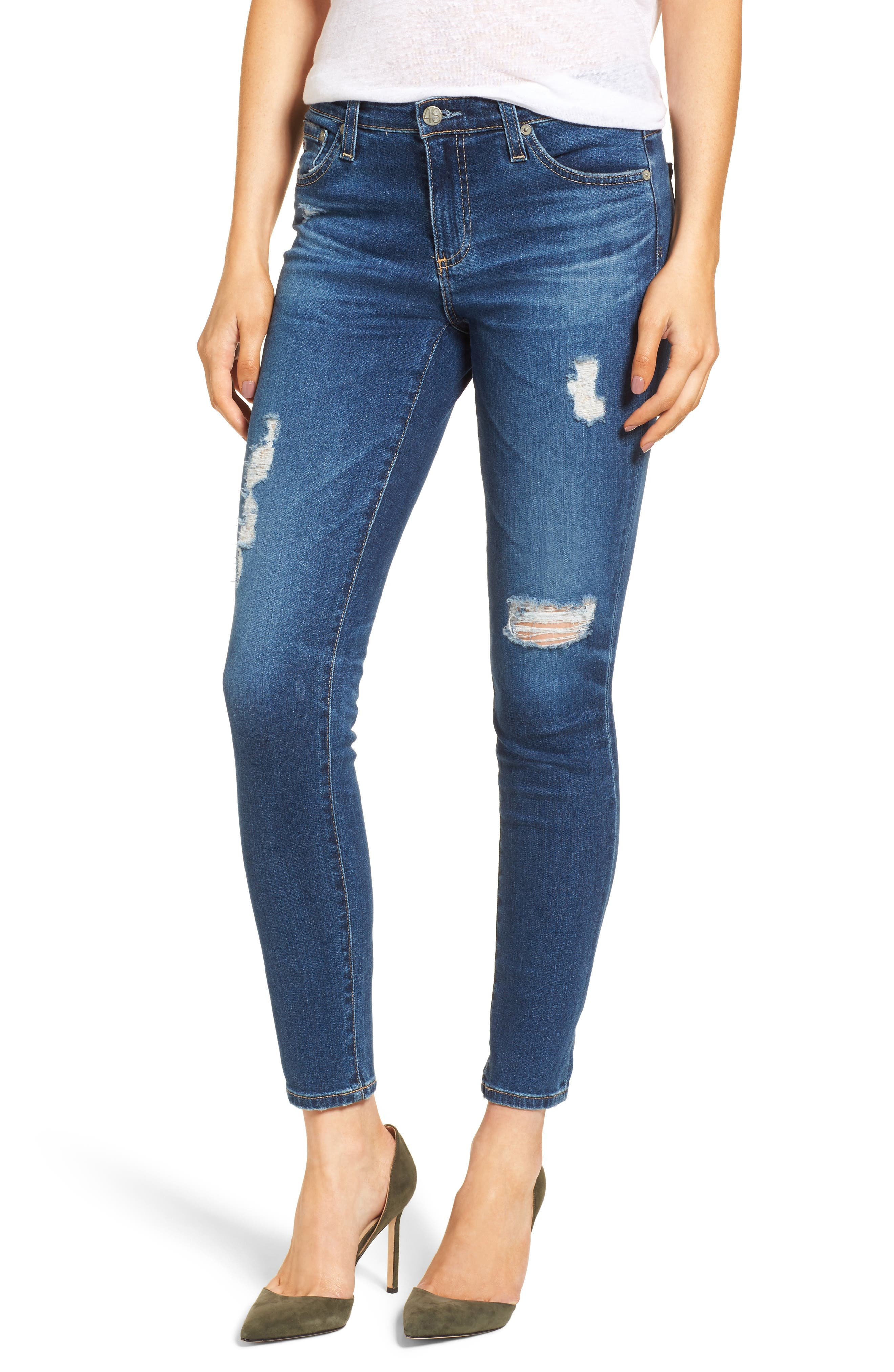 Main Image - AG The Legging Ankle Super Skinny Jeans (08 Y Portrait with Destruction)