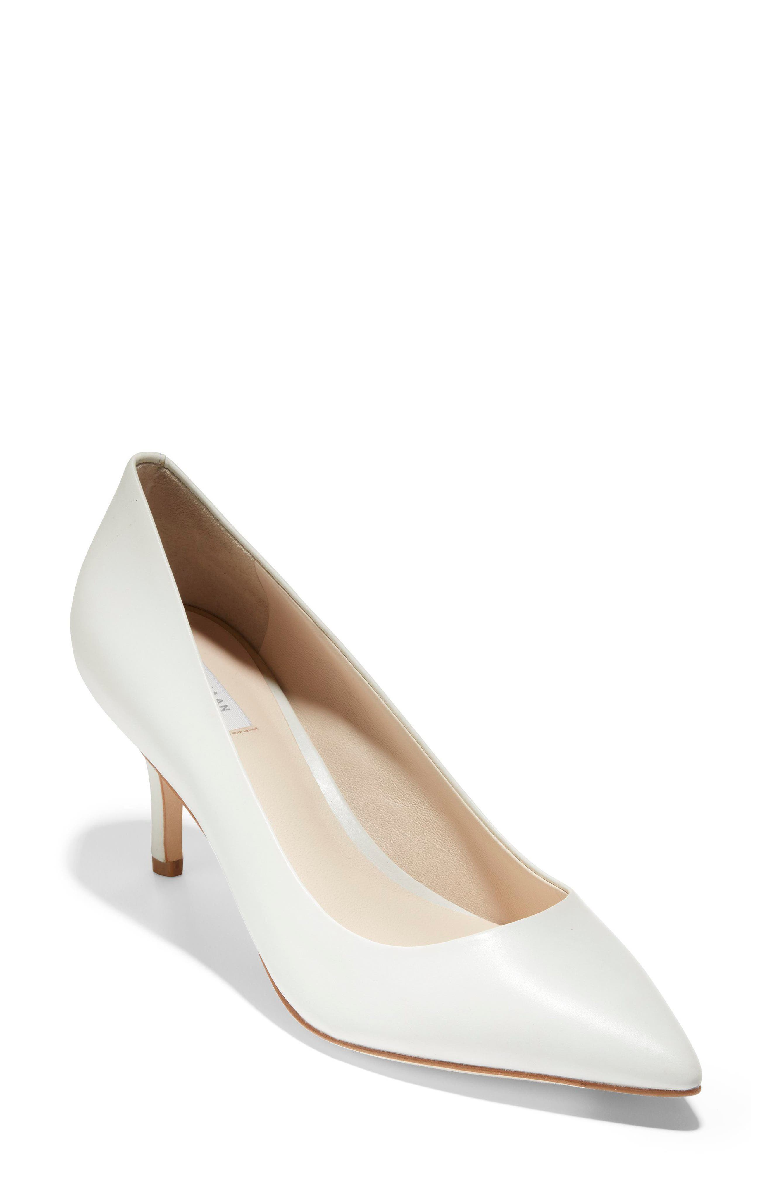 Vesta Pointy Toe Pump,                             Main thumbnail 1, color,                             White Leather