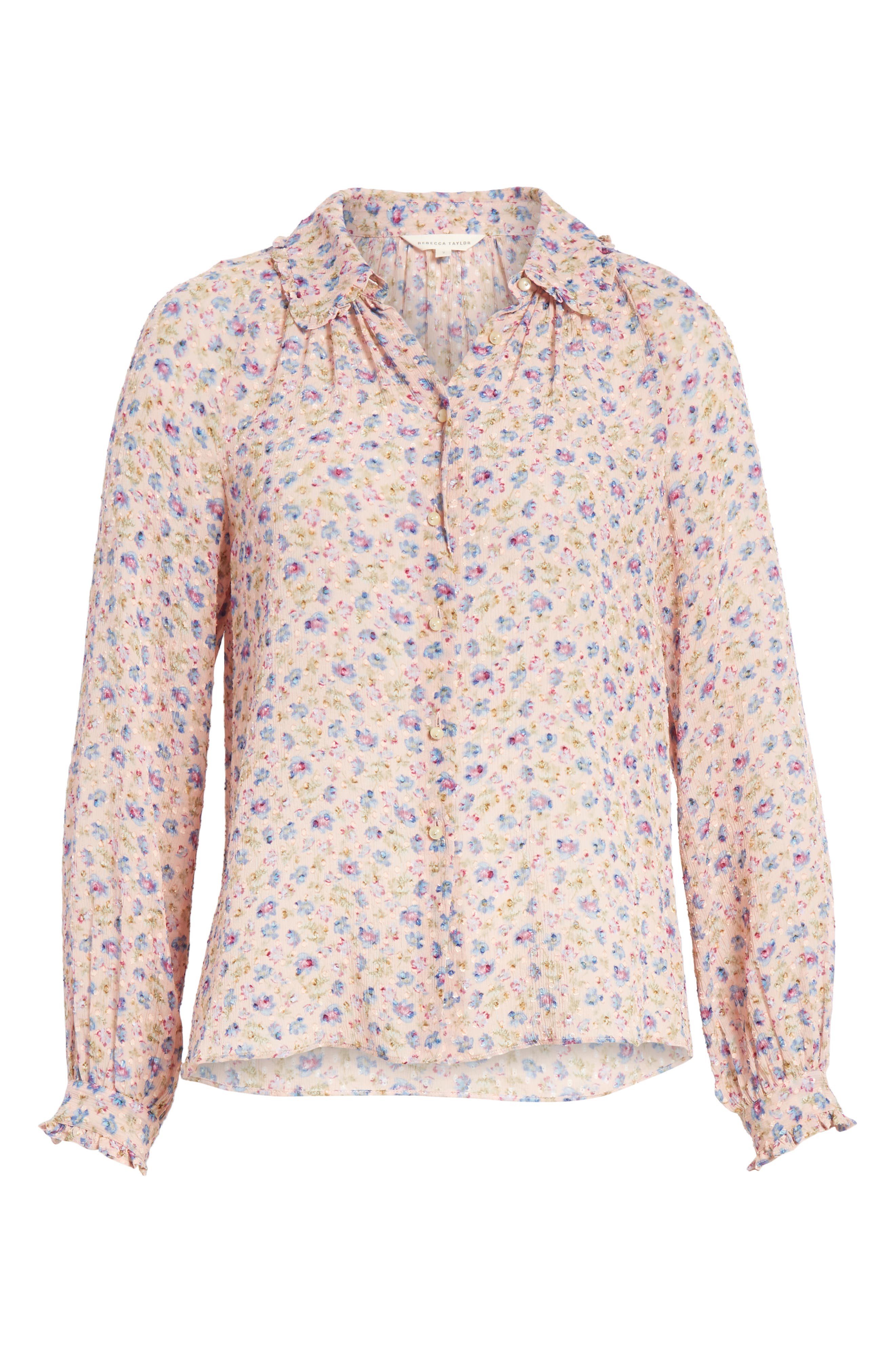 Zelma Floral Top,                             Alternate thumbnail 6, color,                             Nude Combo