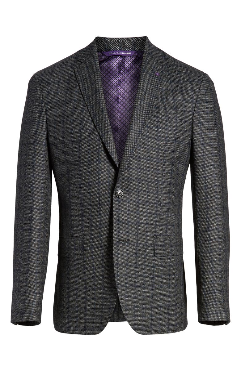 5d83261bfac33c TED BAKER KONAN TRIM FIT WINDOWPANE WOOL SPORT COAT