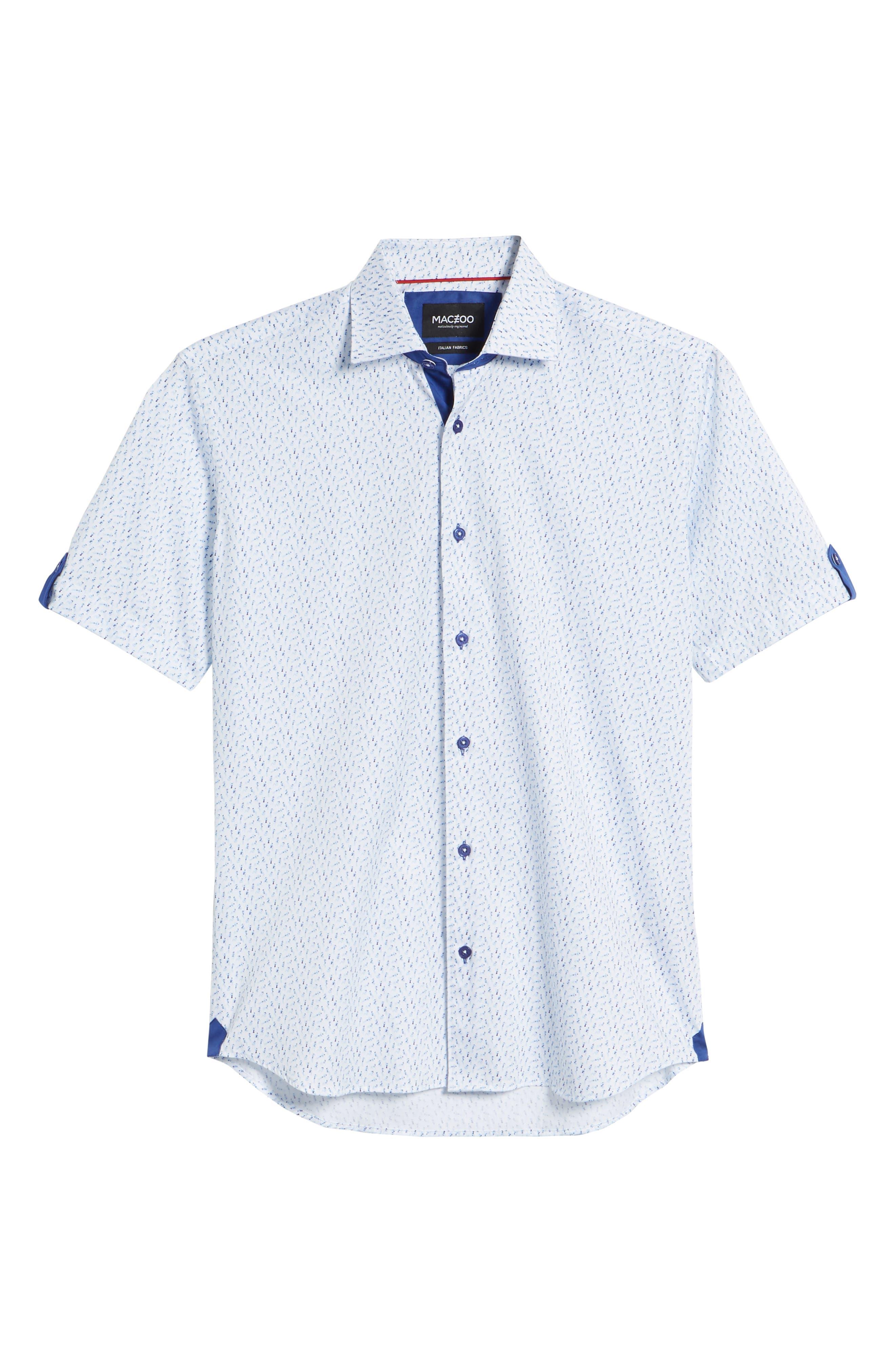 Fresh Swimsuit Print Sport Shirt,                             Alternate thumbnail 5, color,                             Blue