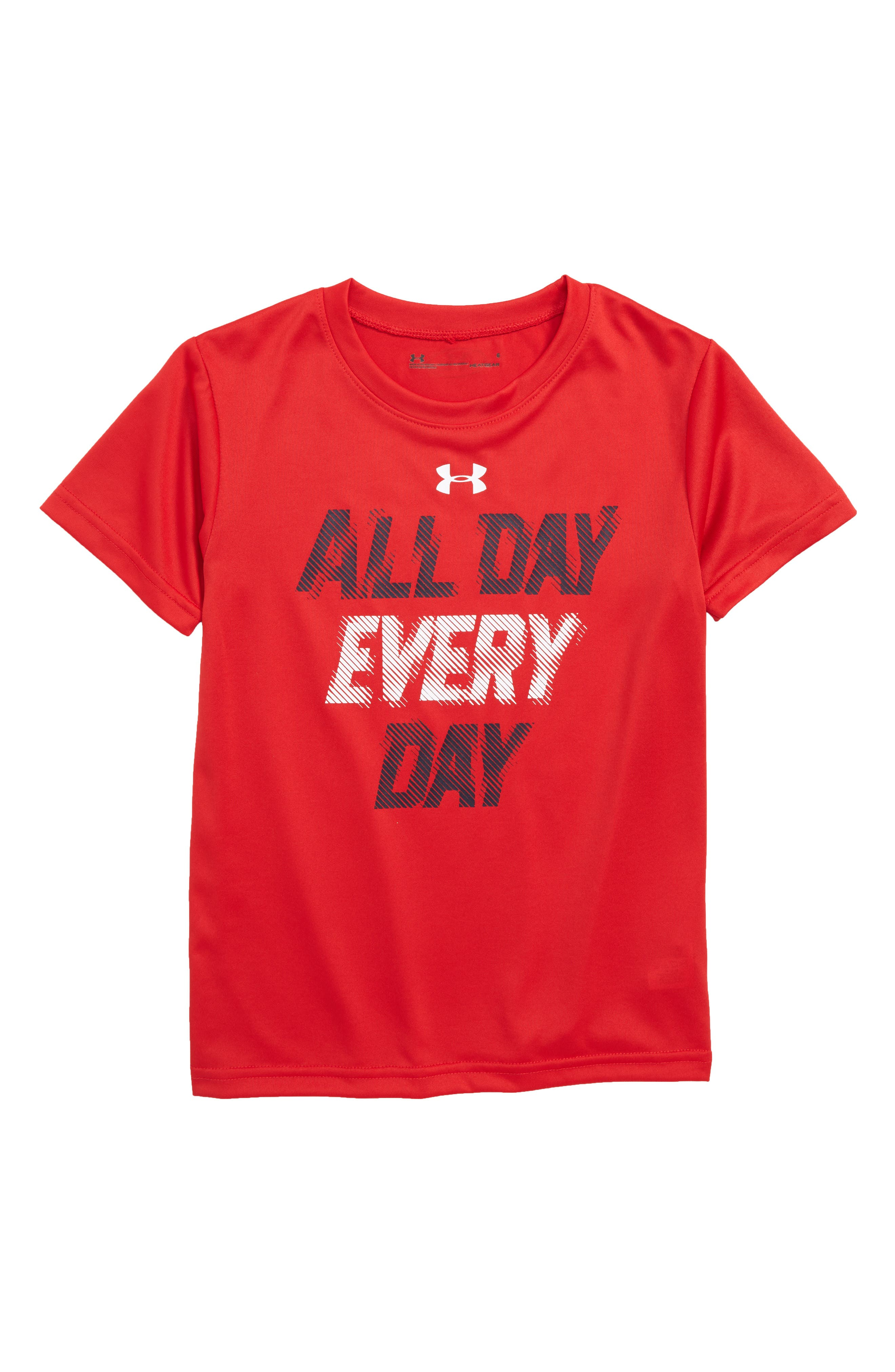MVP All Day Graphic HeatGear<sup>®</sup> T-Shirt,                             Main thumbnail 1, color,                             Red