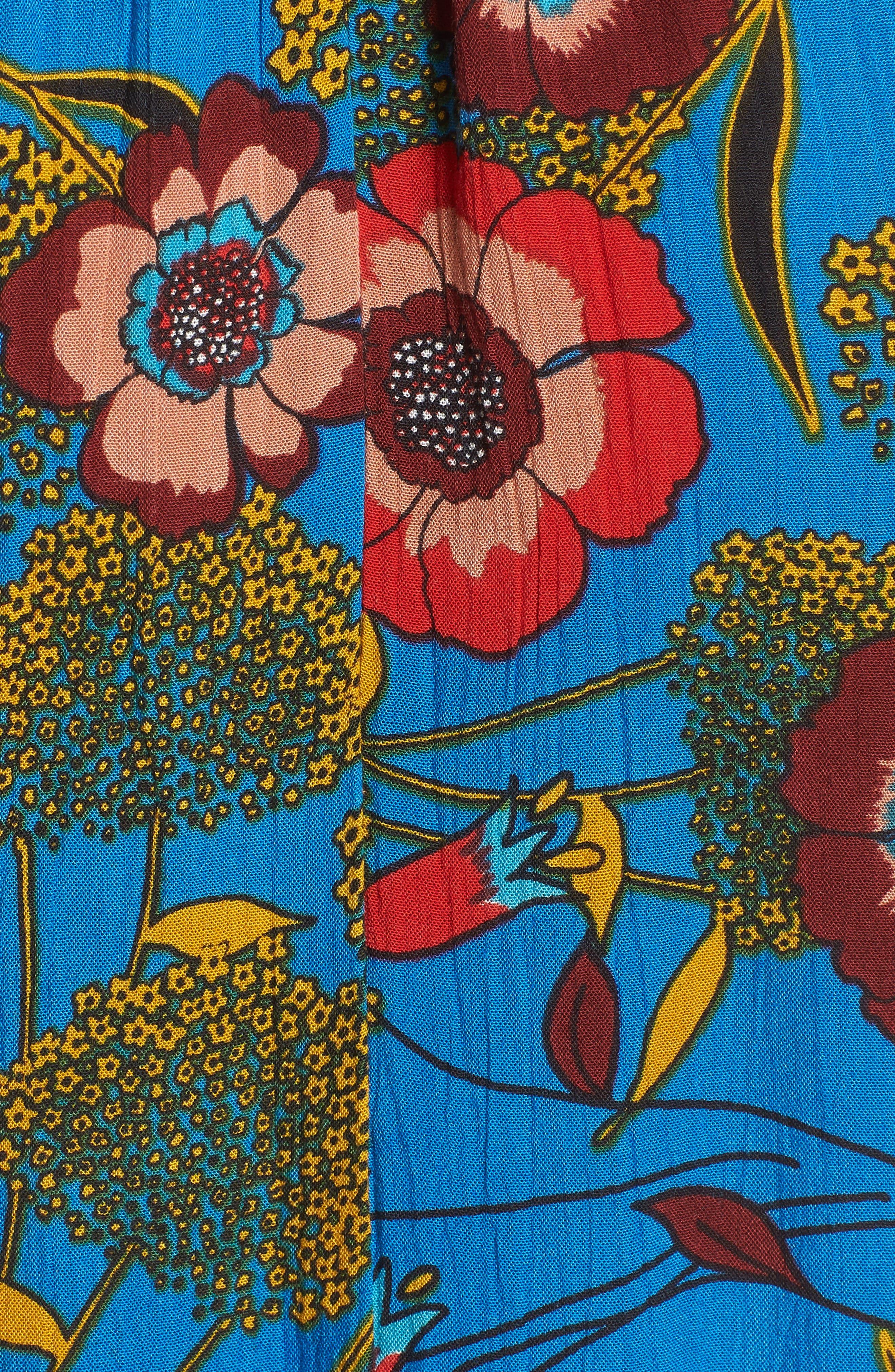 Heirloom Blossom Maxi Dress,                             Alternate thumbnail 6, color,                             Royal/ Blue/ Red