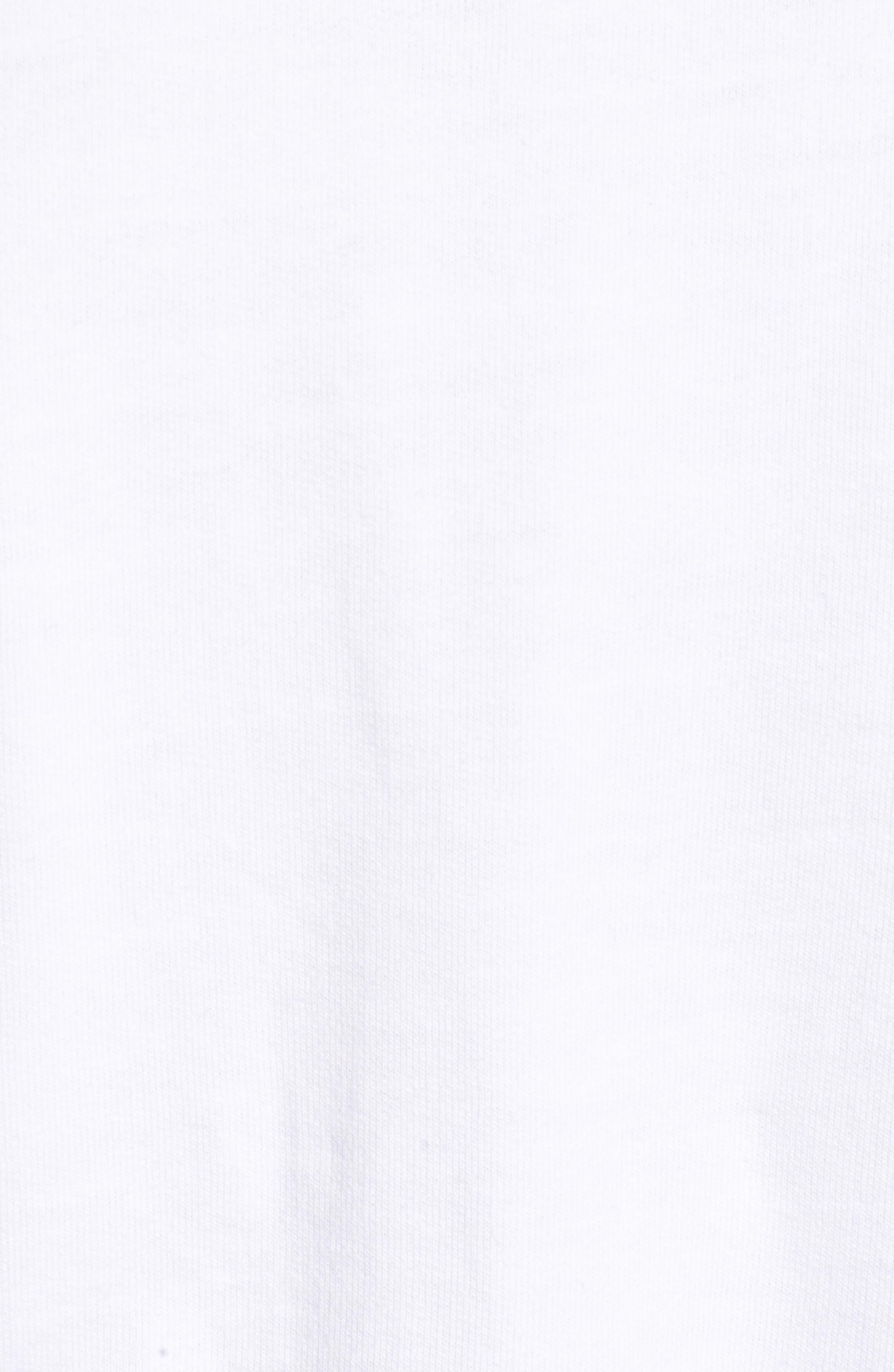 Bamm Bamm Crop Sweatshirt,                             Alternate thumbnail 5, color,                             White