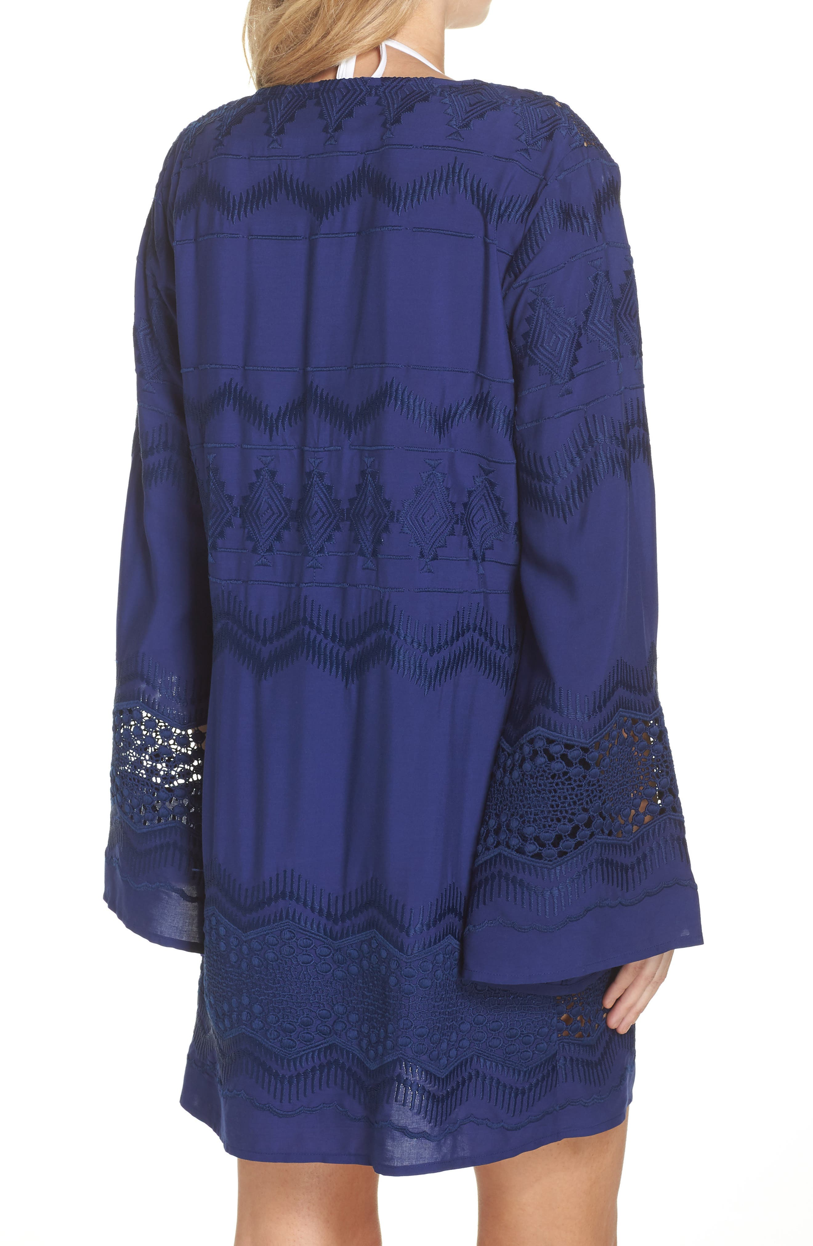 Cover-Up Tunic,                             Alternate thumbnail 2, color,                             Midnight