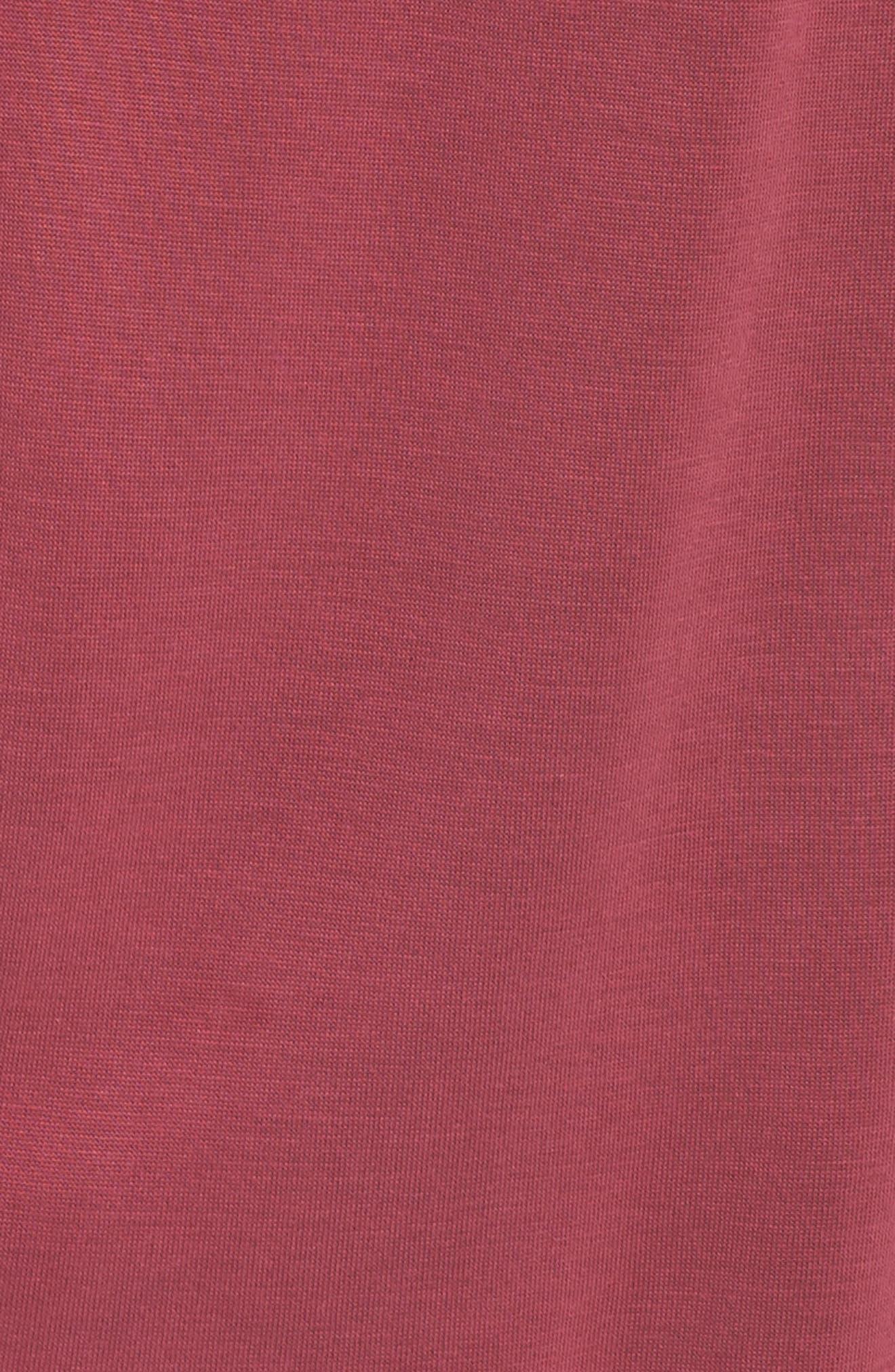 Sandwashed Chocker Neck Top,                             Alternate thumbnail 6, color,                             Beet Red
