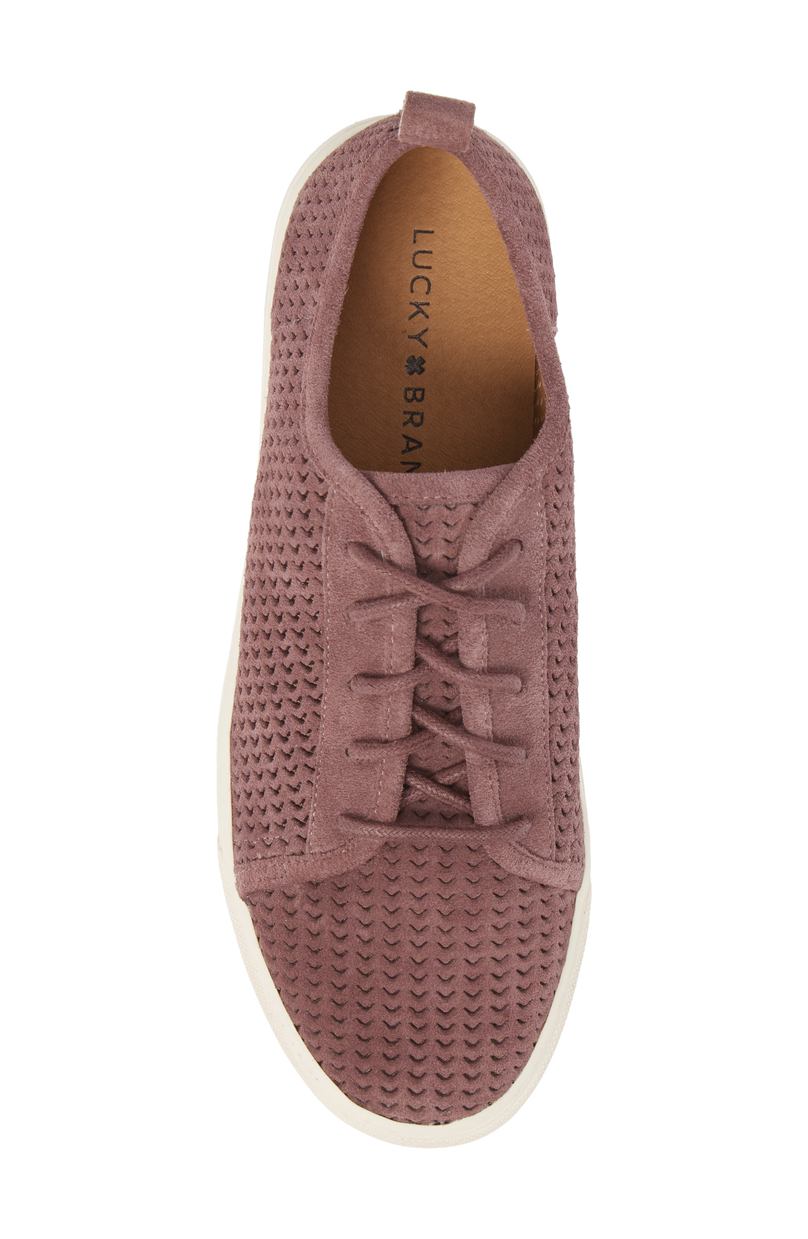 Lawove Sneaker,                             Alternate thumbnail 5, color,                             Berry Smooth Suede