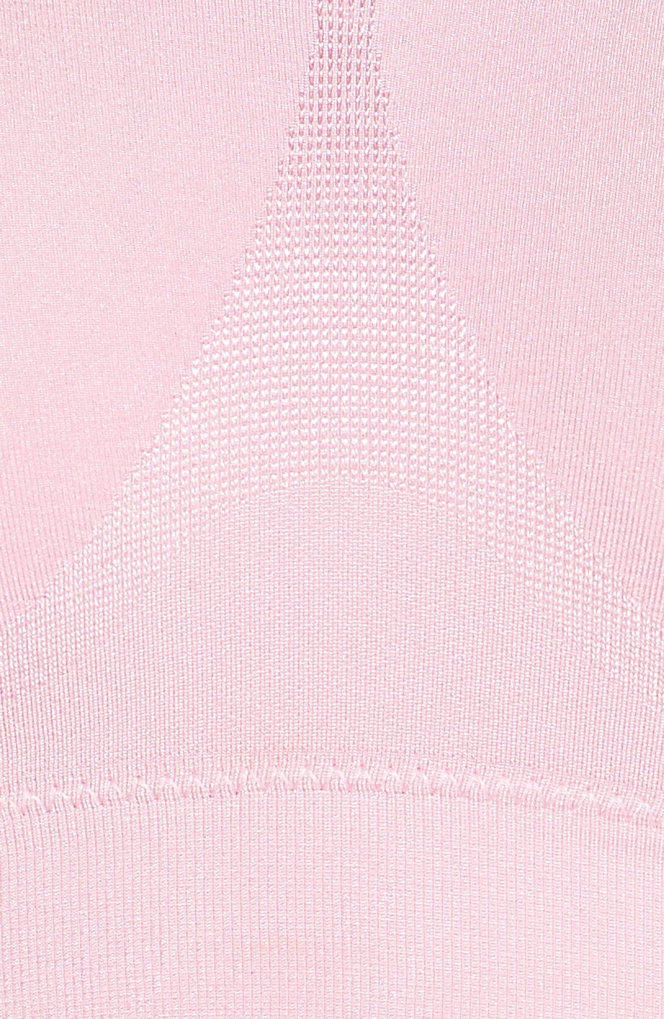 B Smooth Seamless Bralette,                             Alternate thumbnail 8, color,                             Cameo Pink