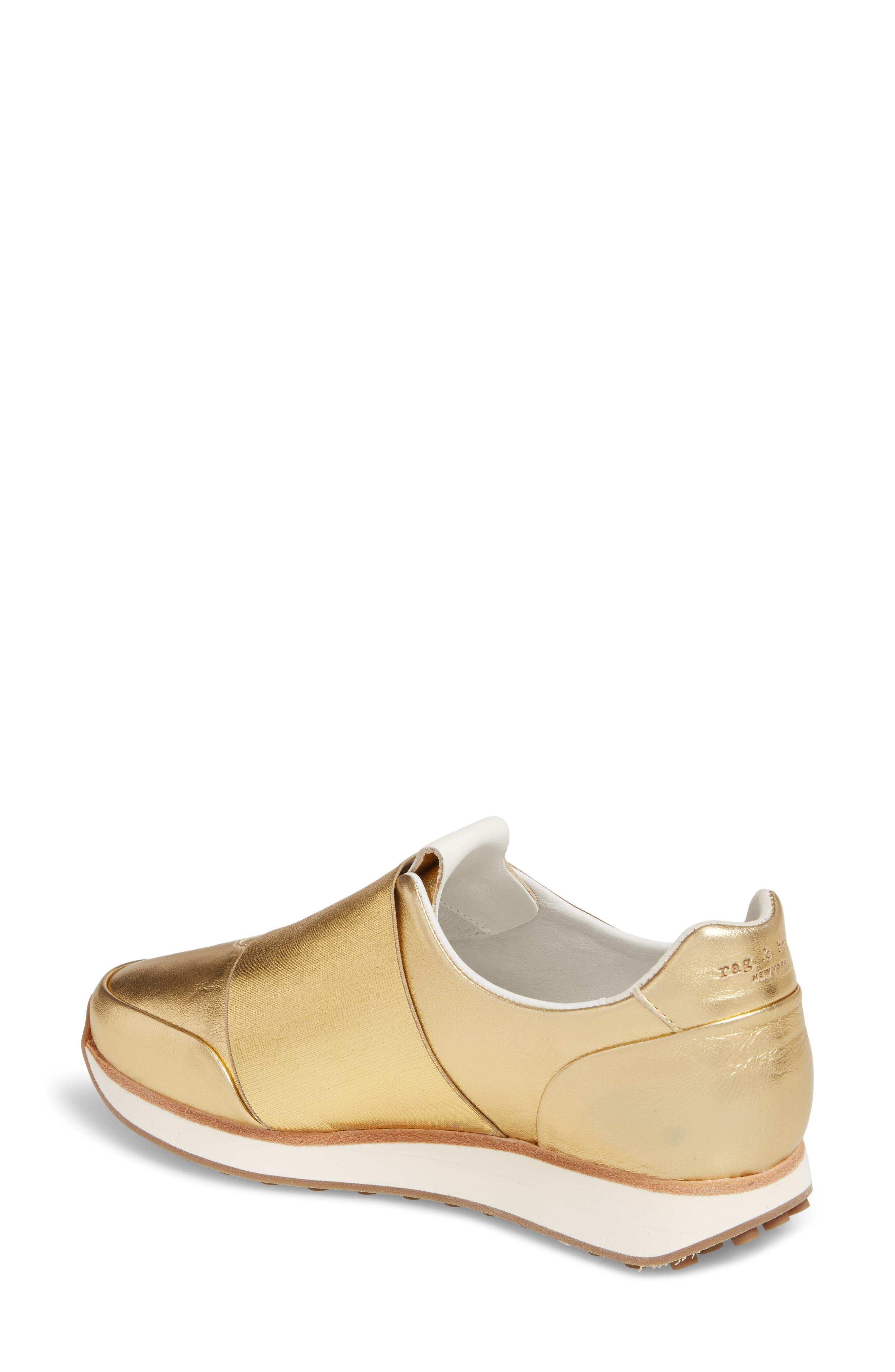 Dylan Sneaker,                             Alternate thumbnail 2, color,                             Gold