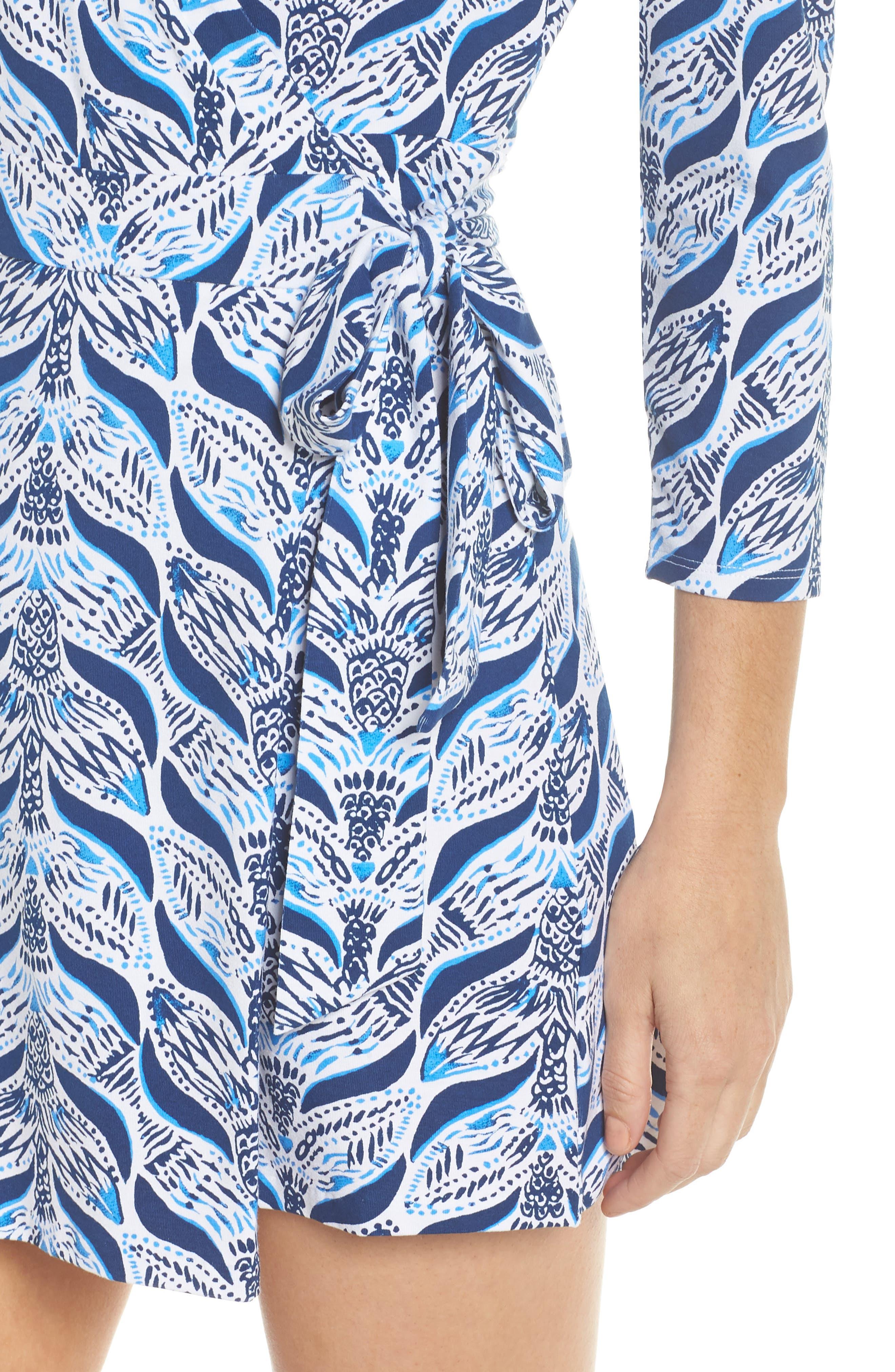 Karlie Wrap Style Romper,                             Alternate thumbnail 4, color,                             Resort White A Mermaids Tail