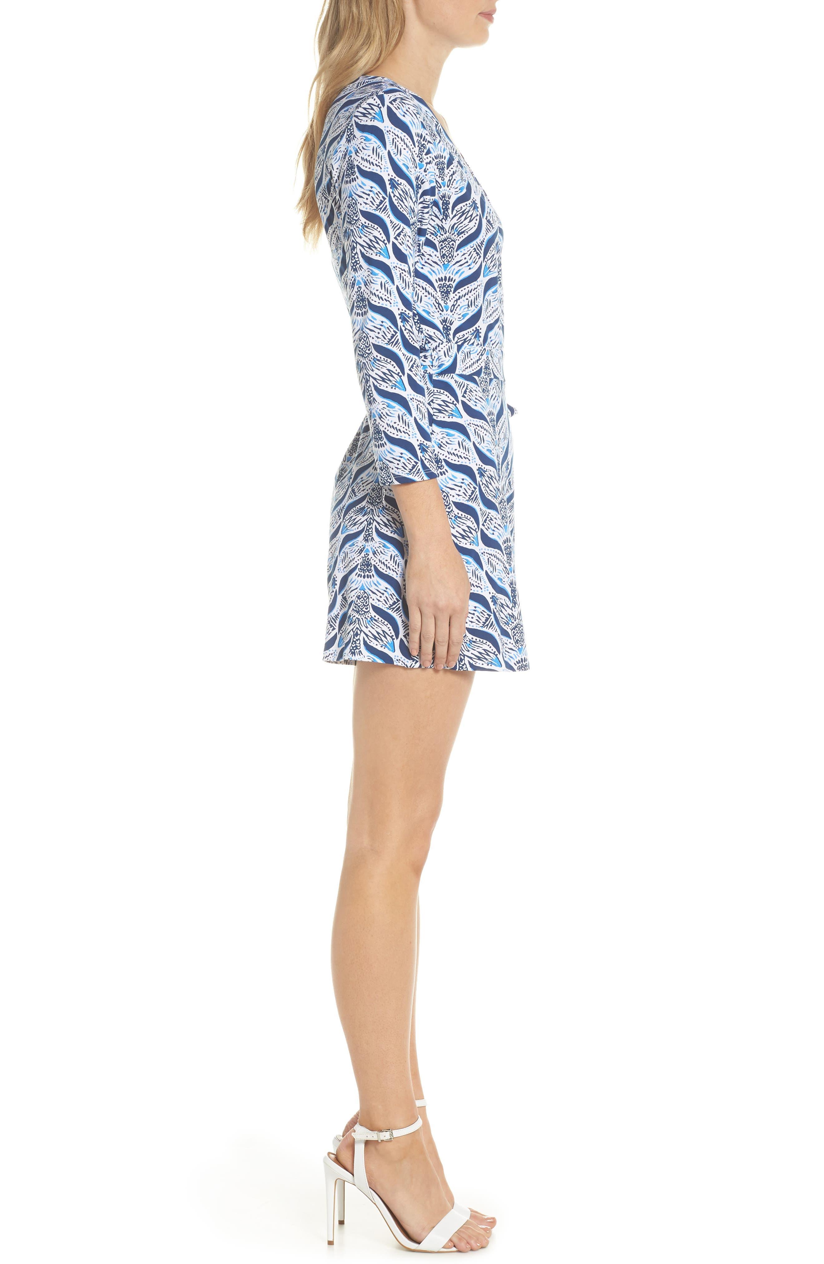 Karlie Wrap Style Romper,                             Alternate thumbnail 3, color,                             Resort White A Mermaids Tail