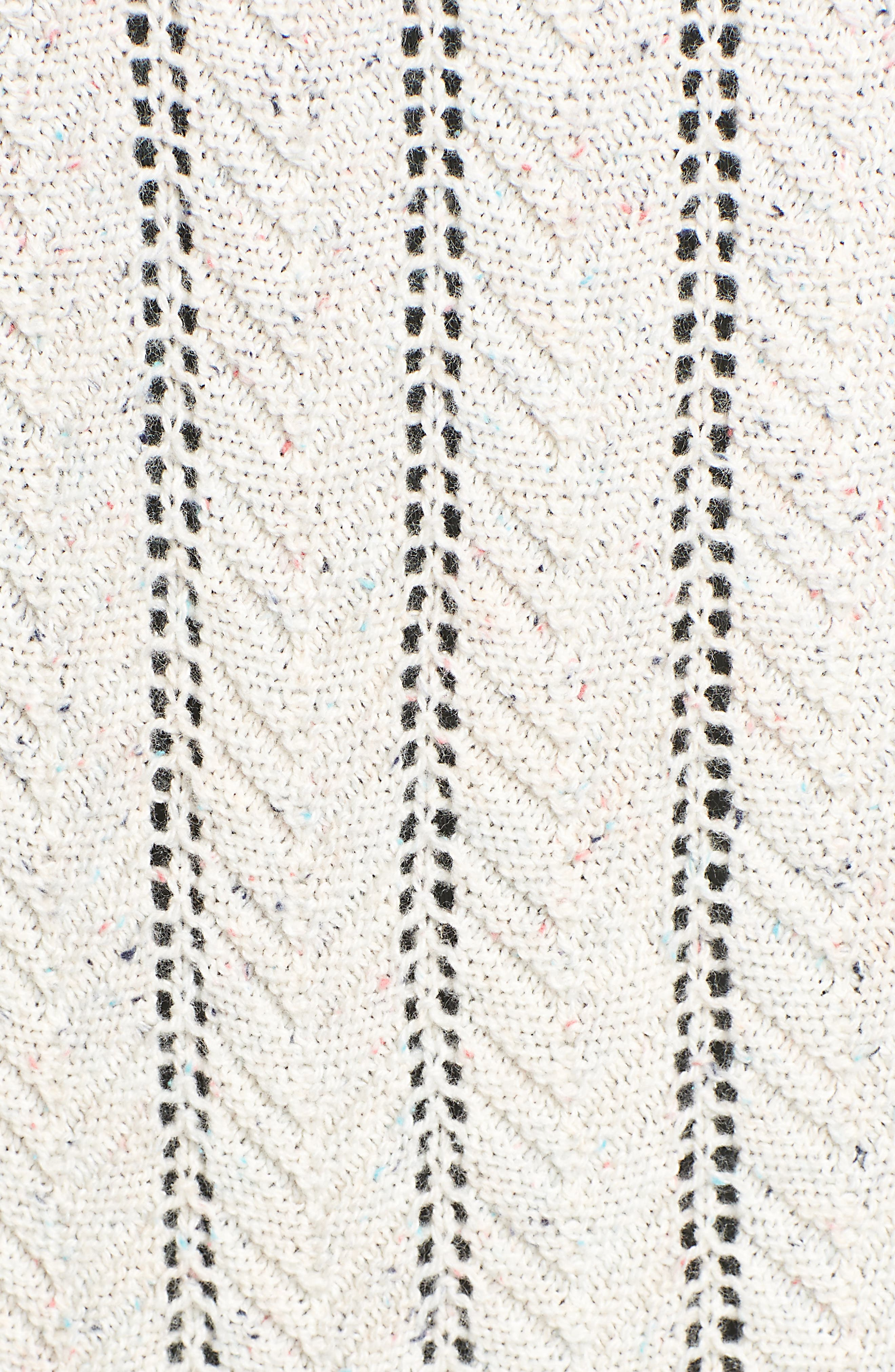 Long Tweed Herringbone Stitch Cardigan,                             Alternate thumbnail 5, color,                             Beige Oatmeal Heather