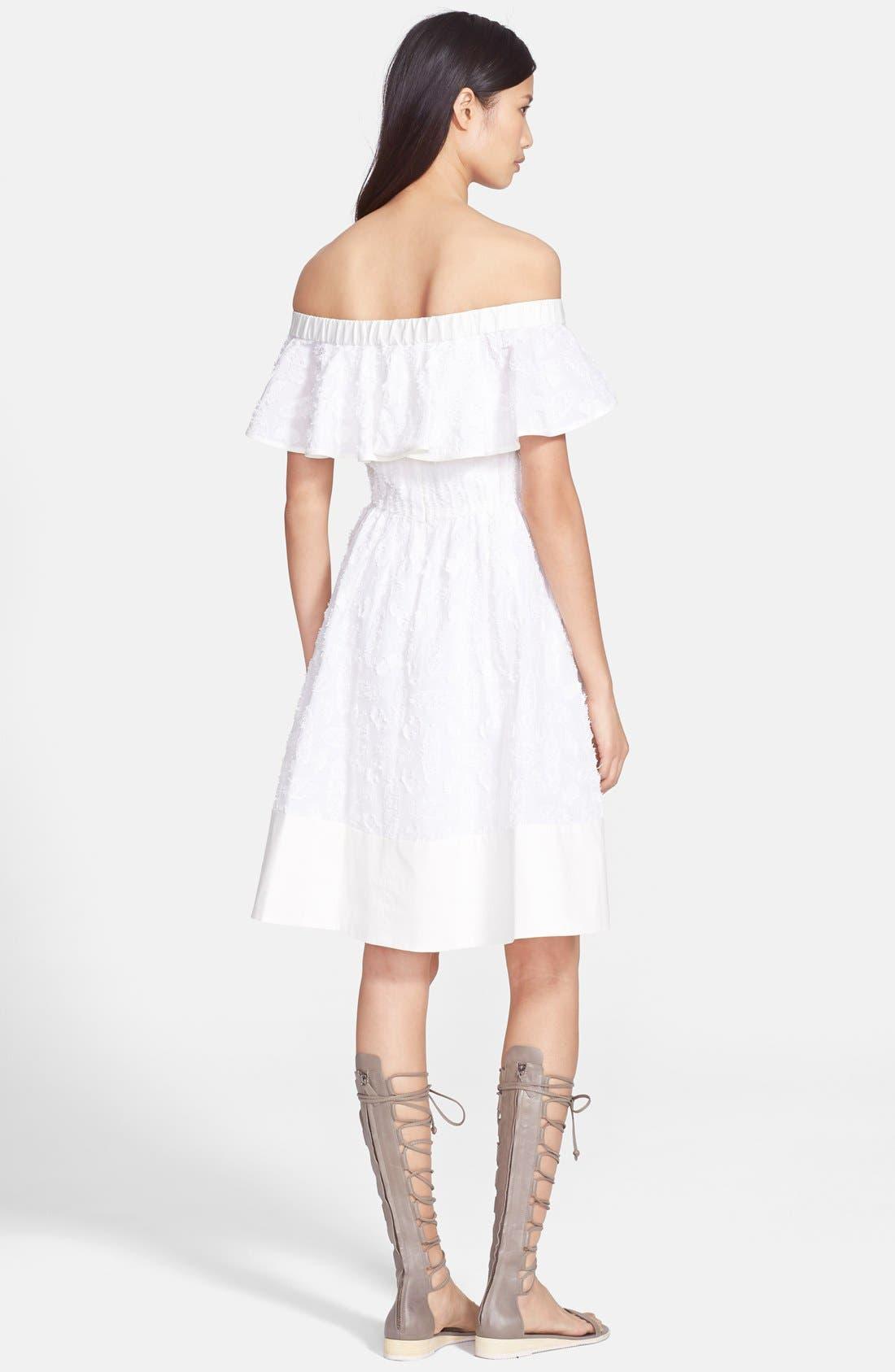 Alternate Image 2  - Tibi 'Sakura' Off the Shoulder Fil Coupe Dress