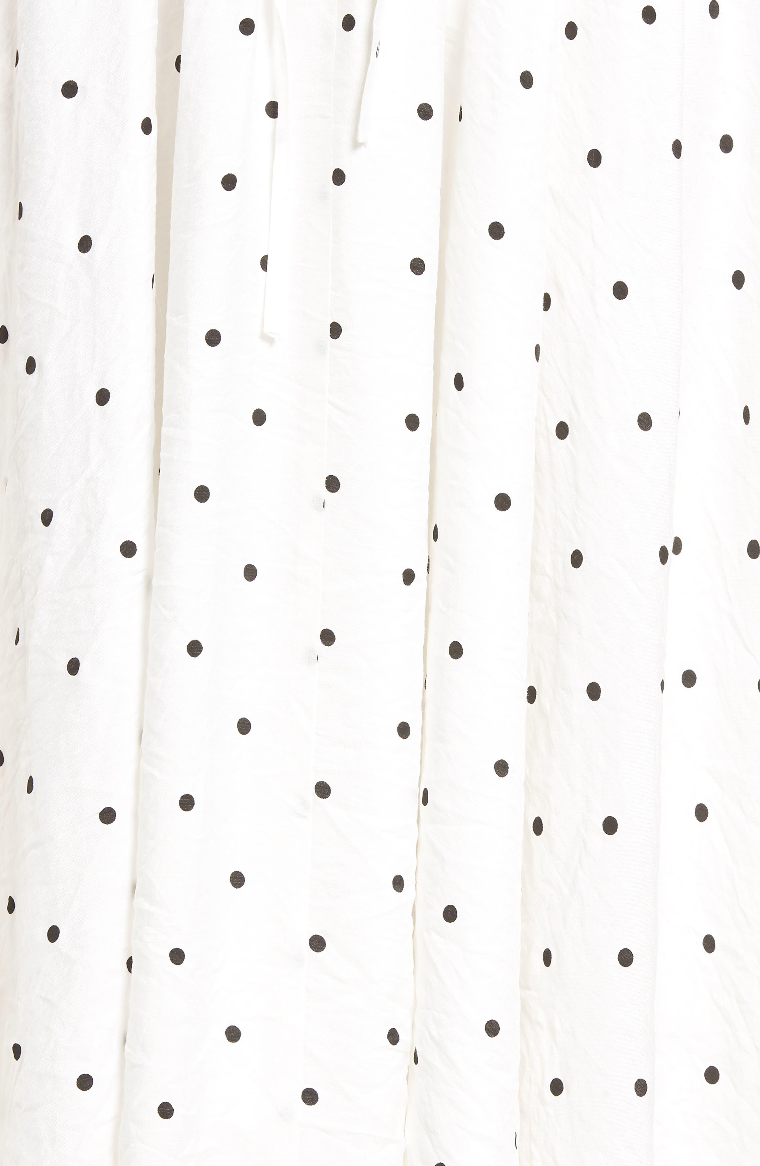 Lace-Up A-Line Skirt,                             Alternate thumbnail 6, color,                             Mono