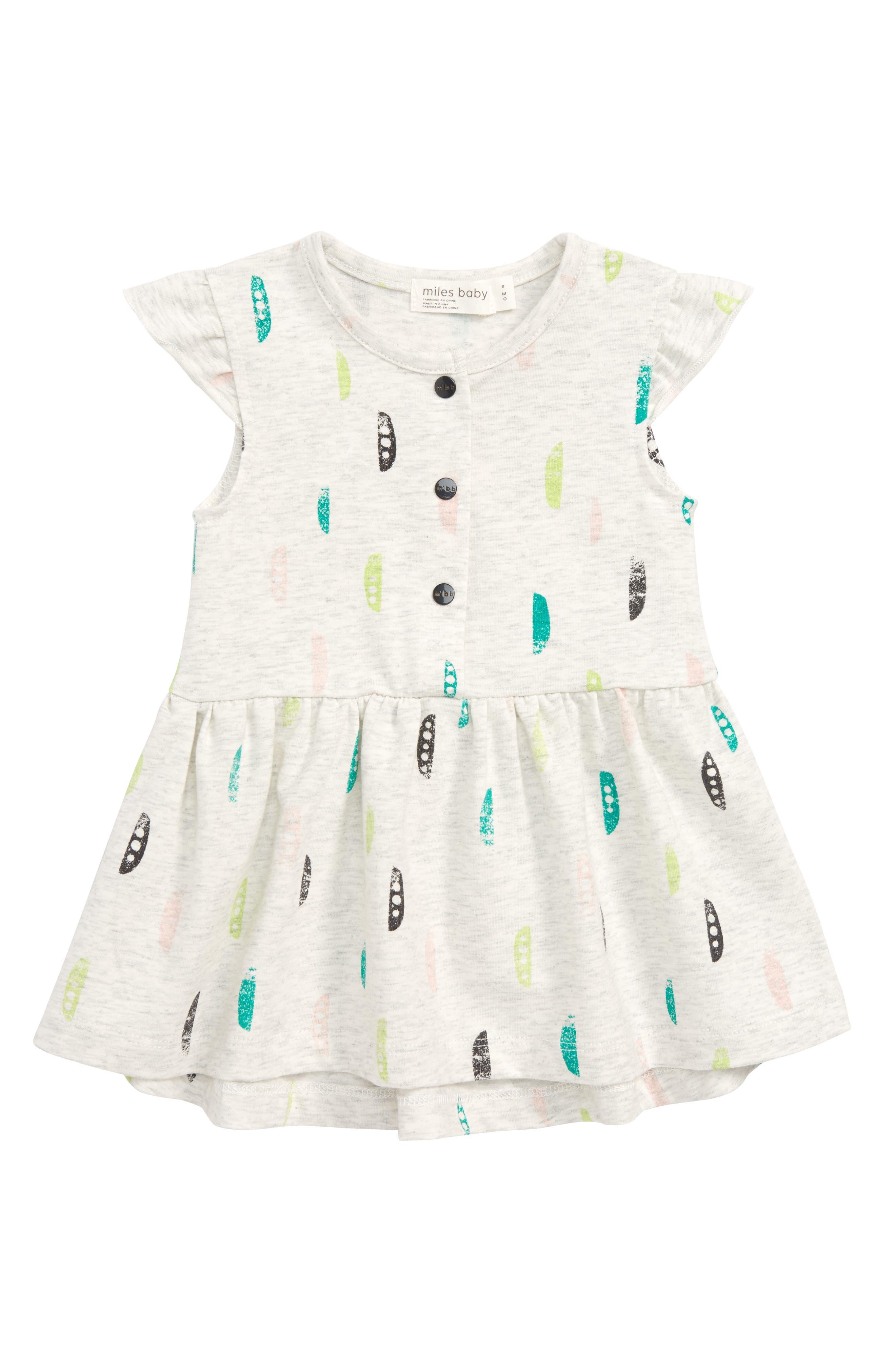 Print Dress,                             Main thumbnail 1, color,                             Light Heather Grey