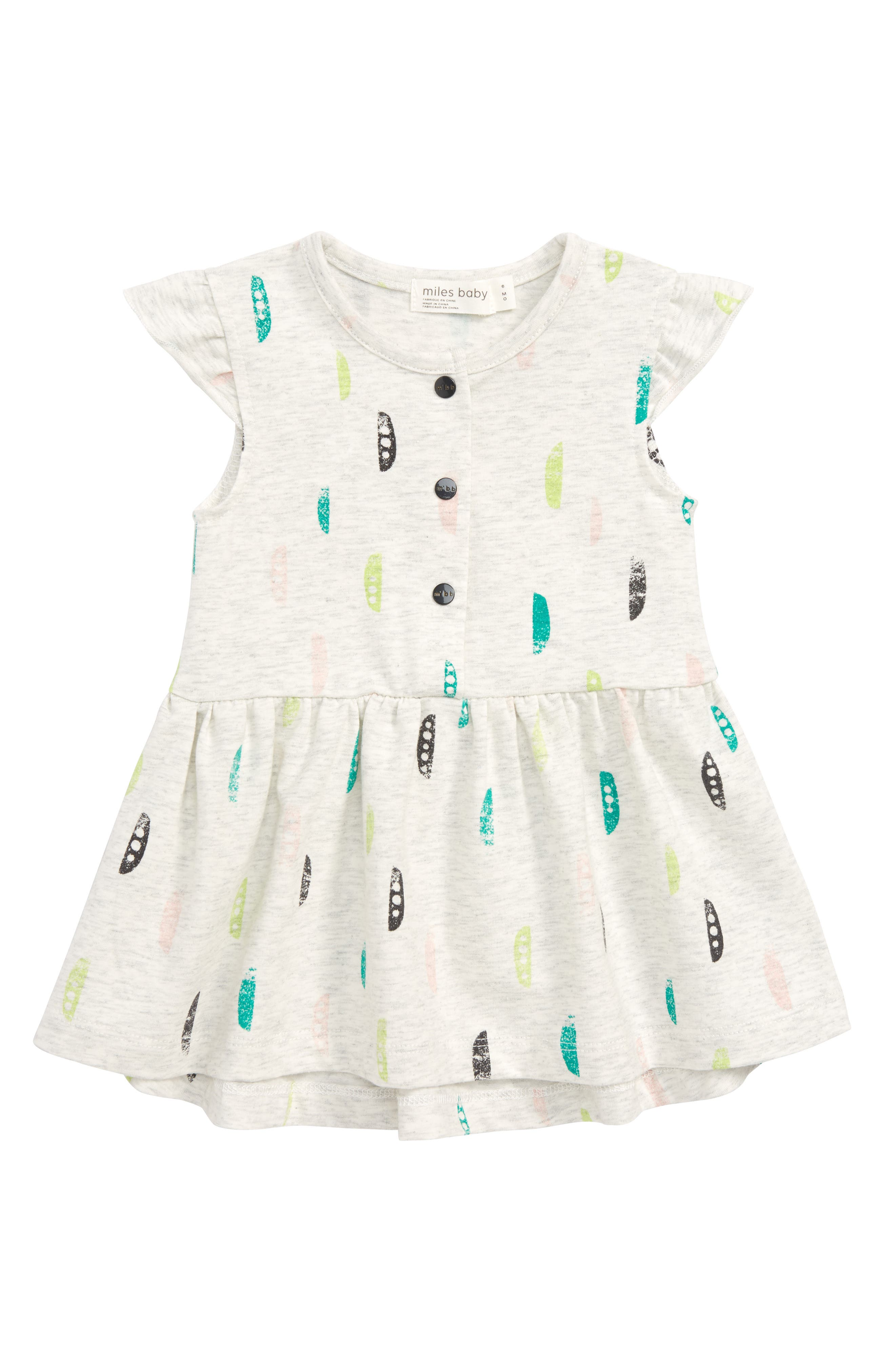 Print Dress,                         Main,                         color, Light Heather Grey