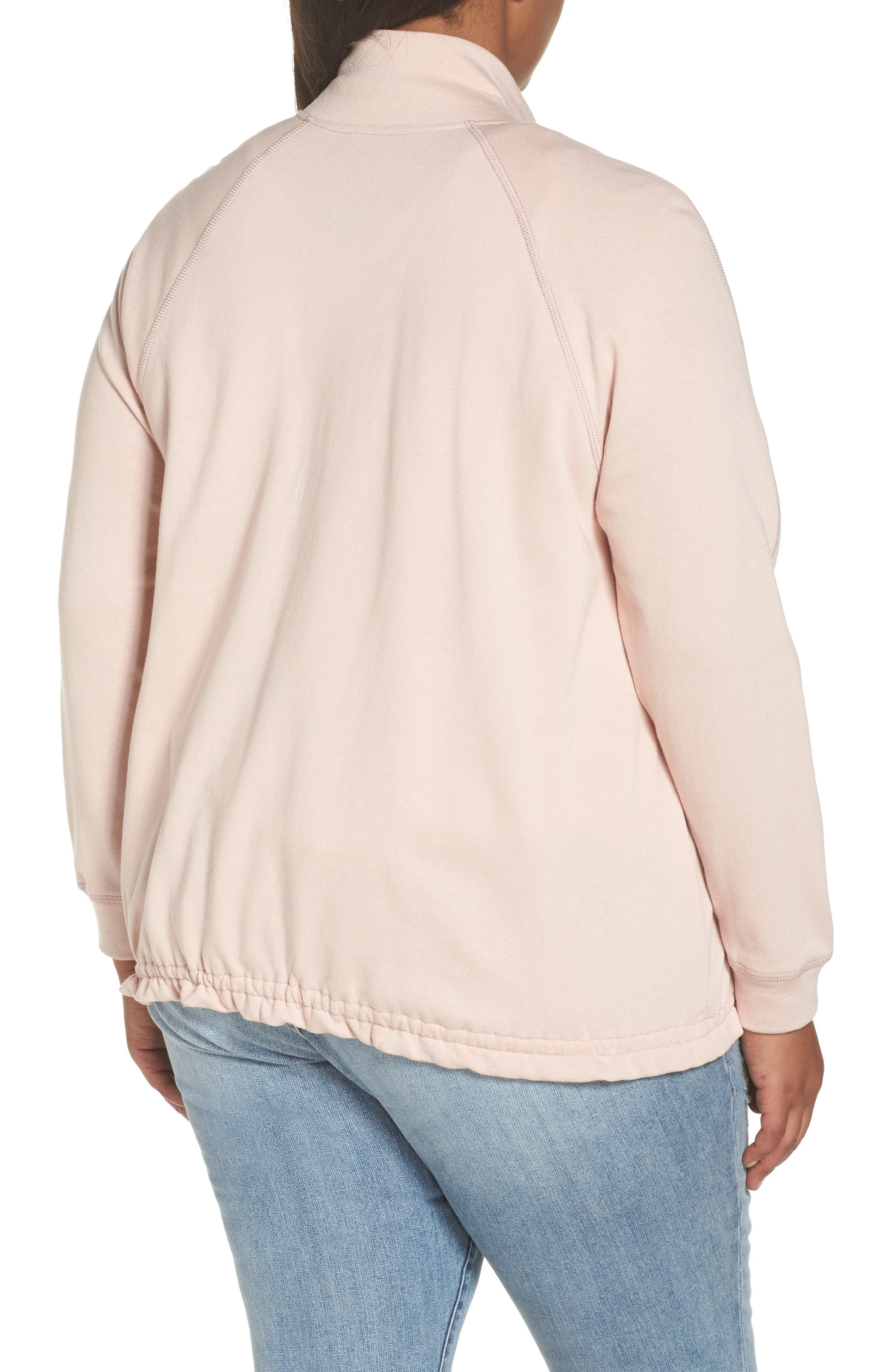 Off-Duty Knit Track Jacket,                             Alternate thumbnail 2, color,                             Pink Smoke