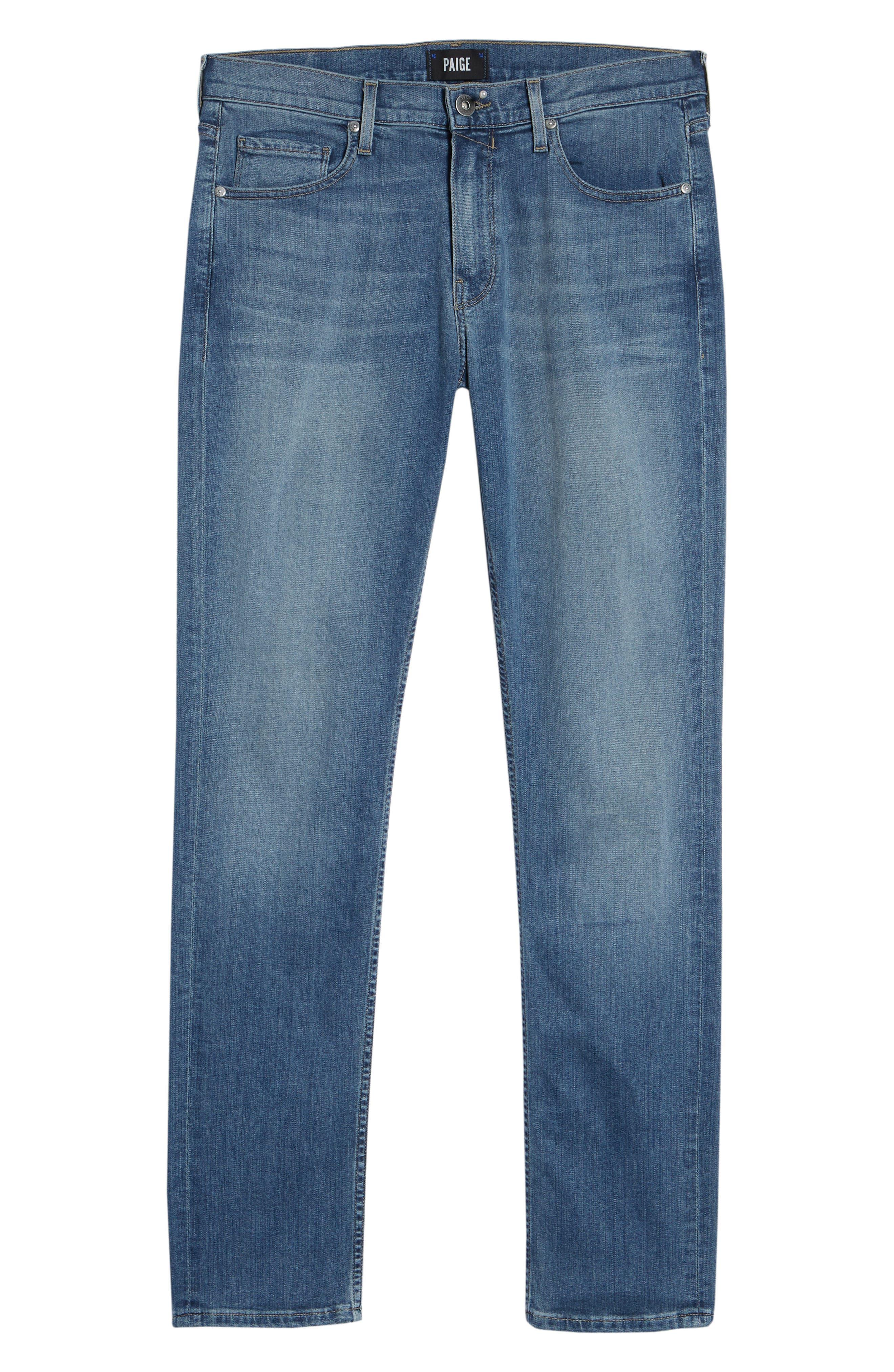 Transcend - Lennox Slim Fit Jeans,                             Alternate thumbnail 6, color,                             Allman