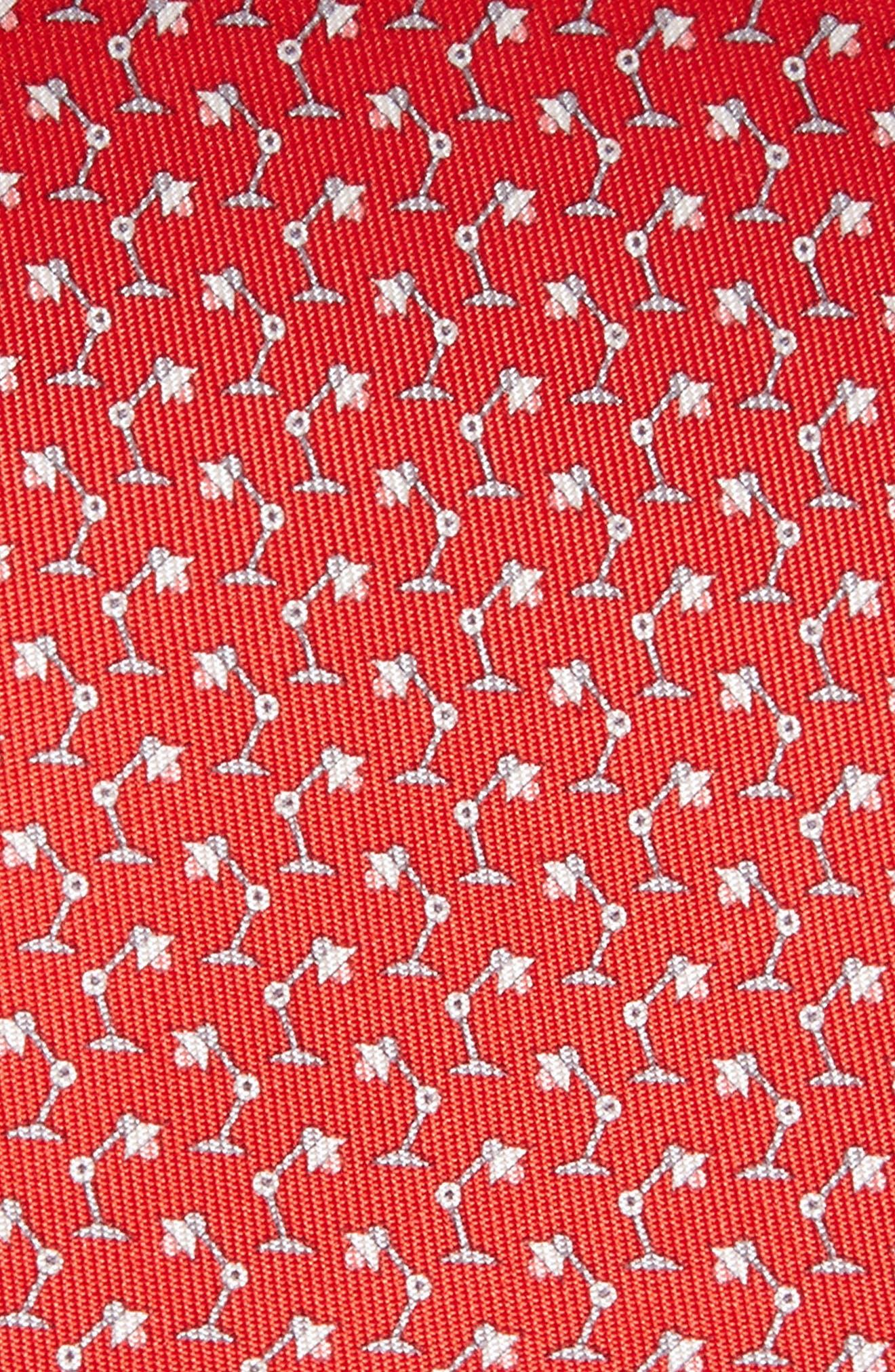 Lamp Print Tie,                             Alternate thumbnail 2, color,                             Red