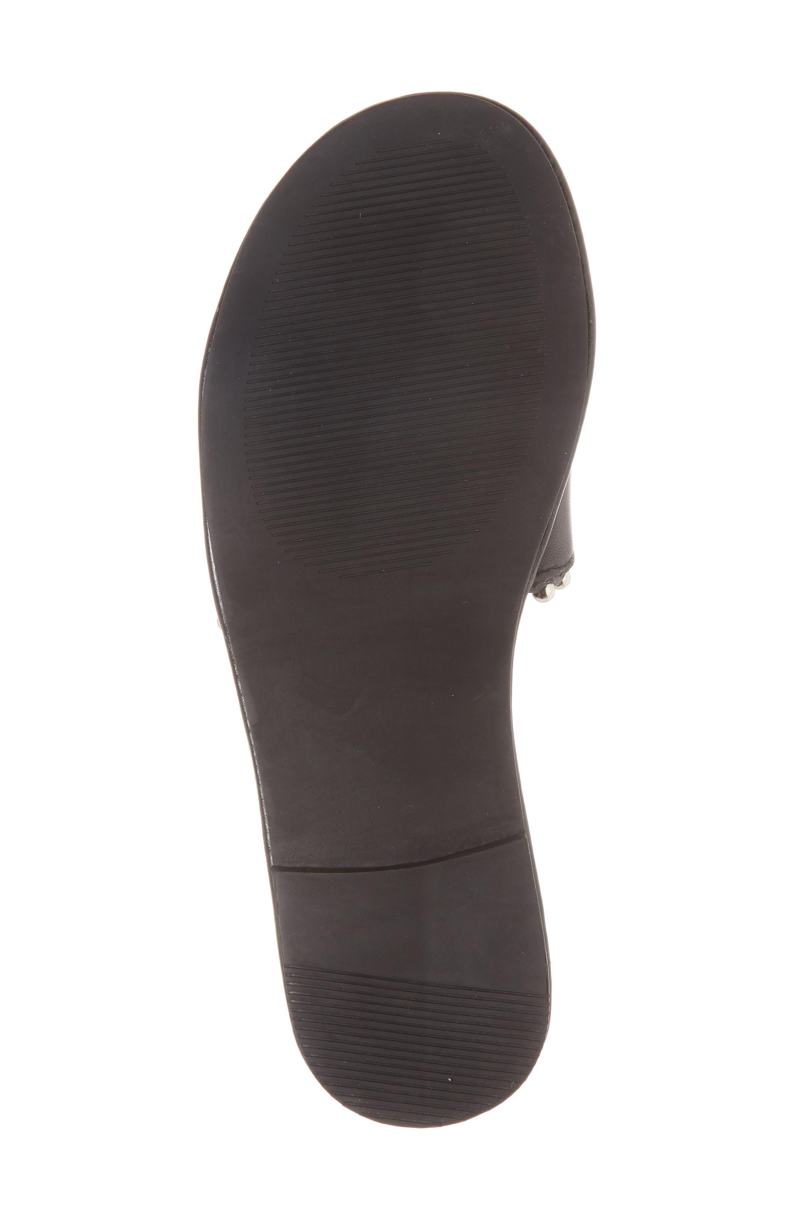 Brew Slide Sandal,                             Alternate thumbnail 6, color,                             Black Leather