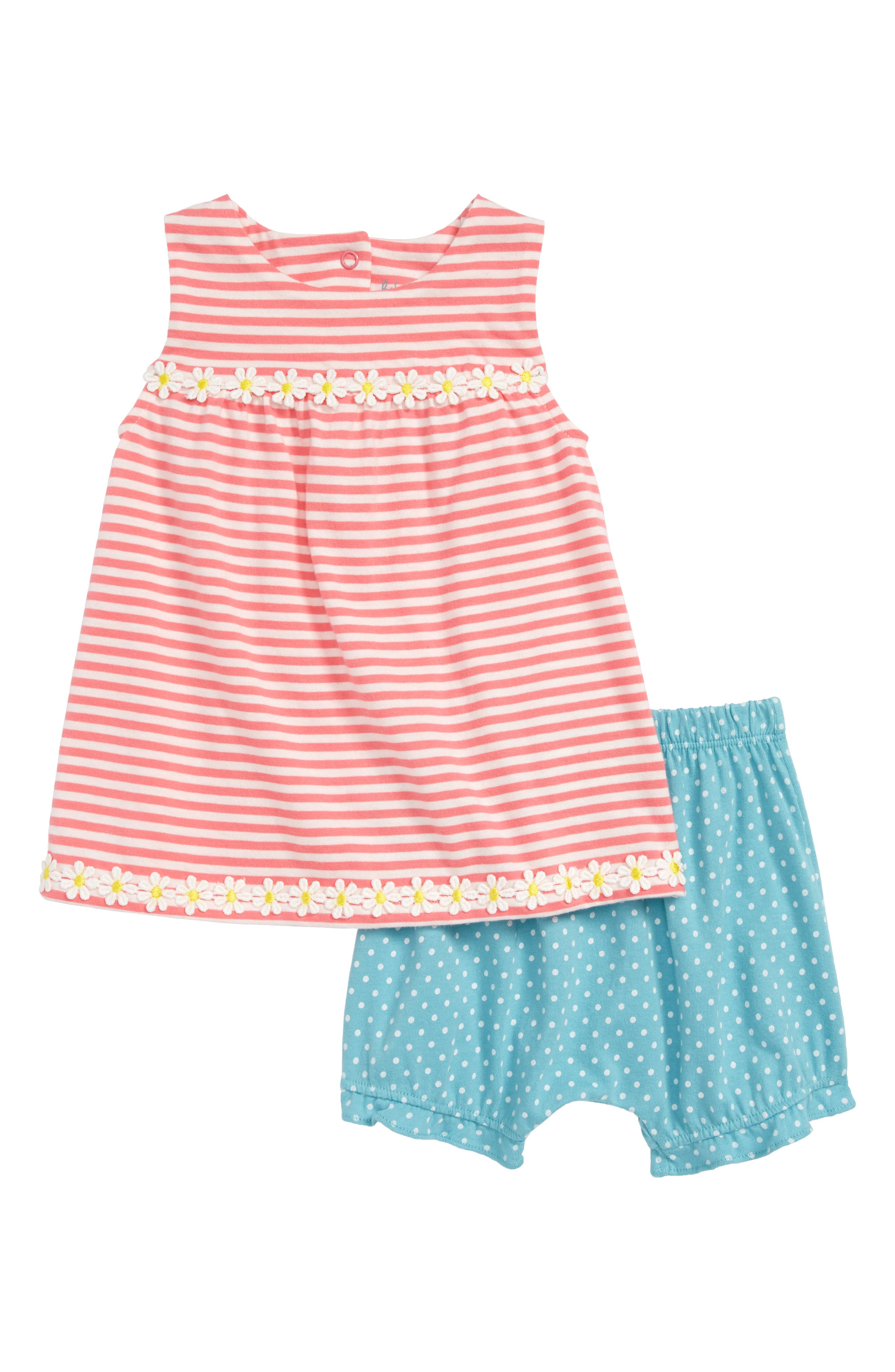 Jersey Summer Dress,                             Main thumbnail 1, color,                             Strawberry Sorbet Pink/ Ivory