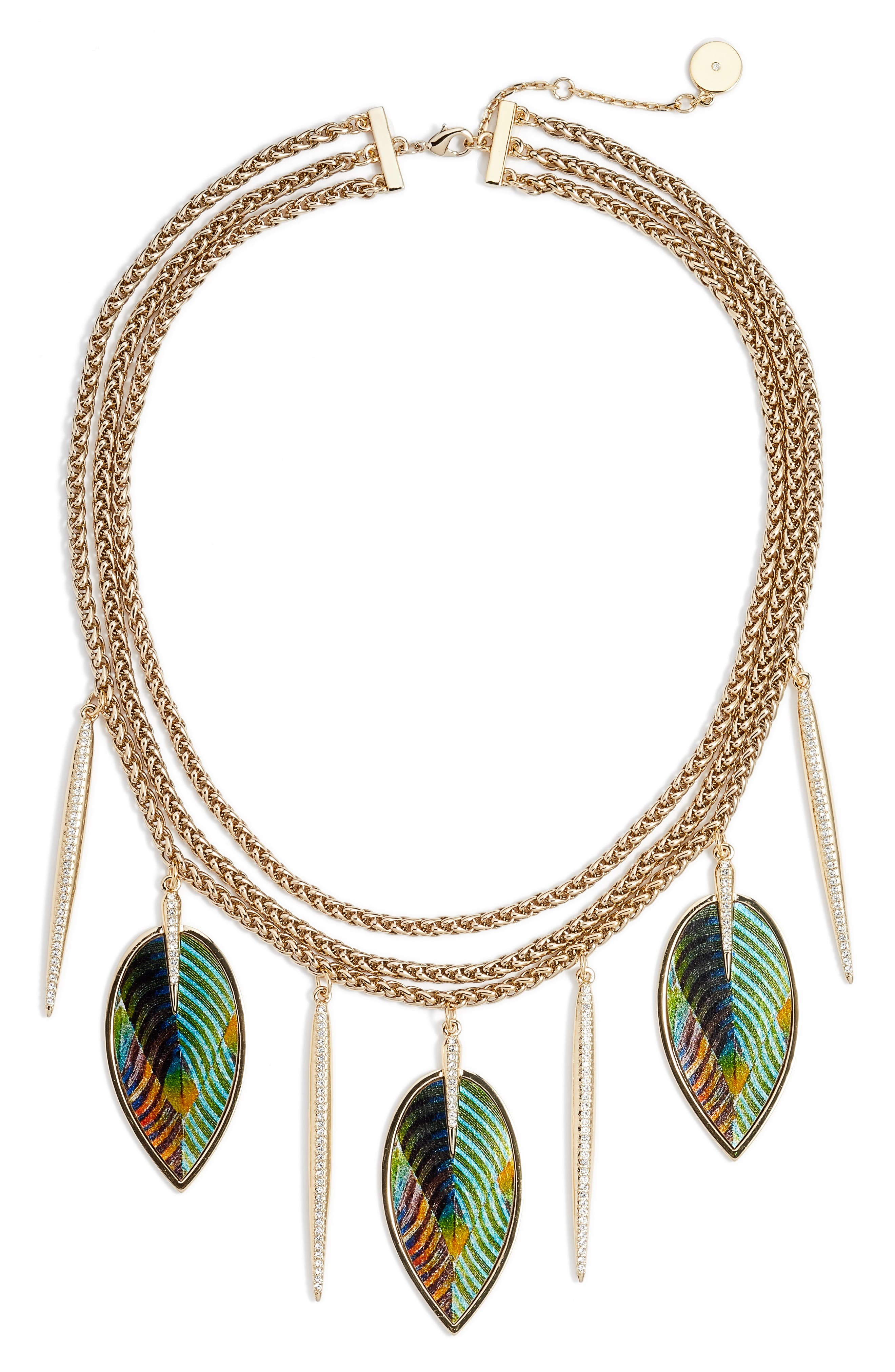 Statement Necklace,                         Main,                         color, Gold
