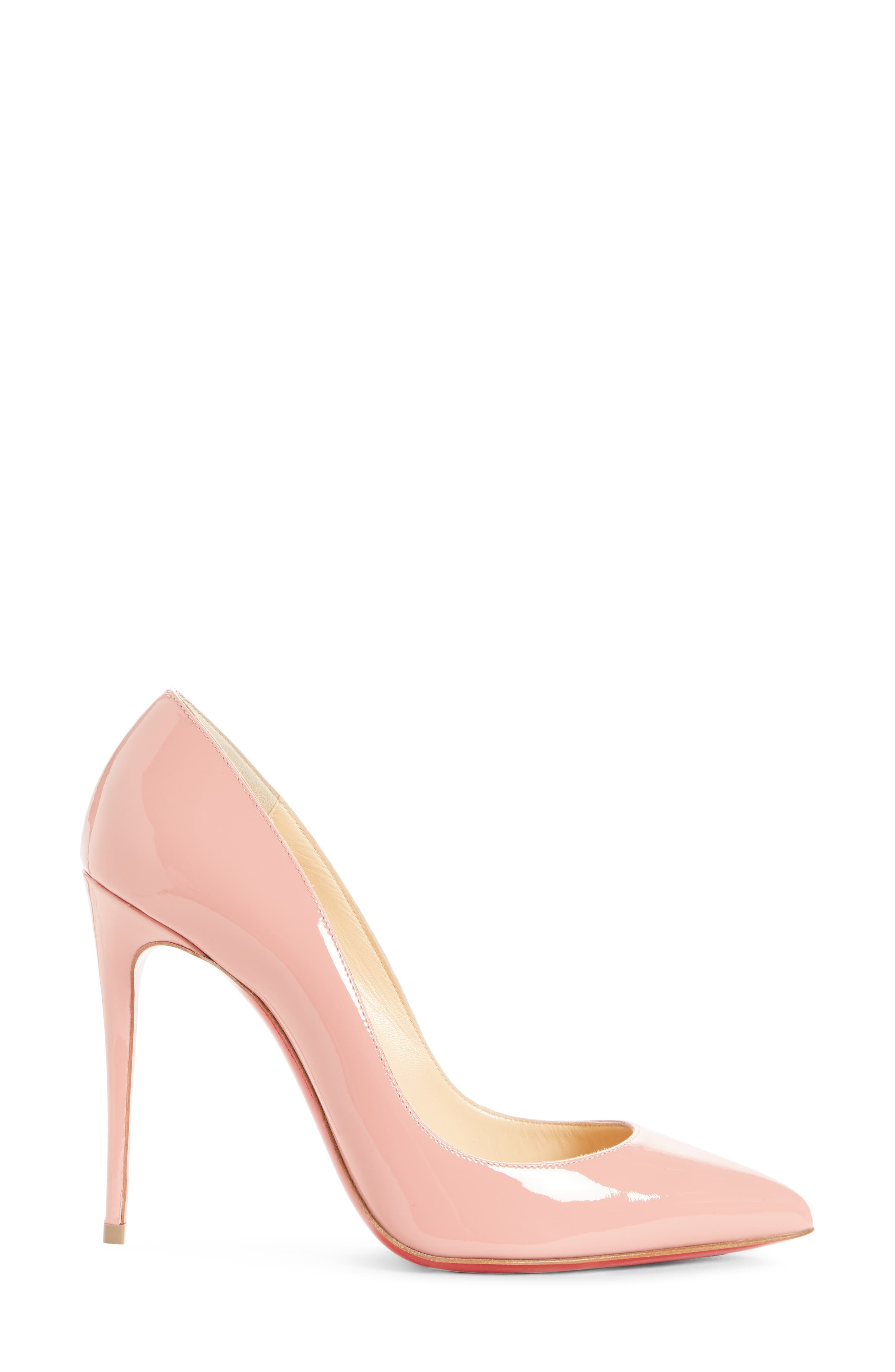 'Pigalle Follies' Pointy Toe Pump,                             Alternate thumbnail 3, color,                             Marshmallow Pink