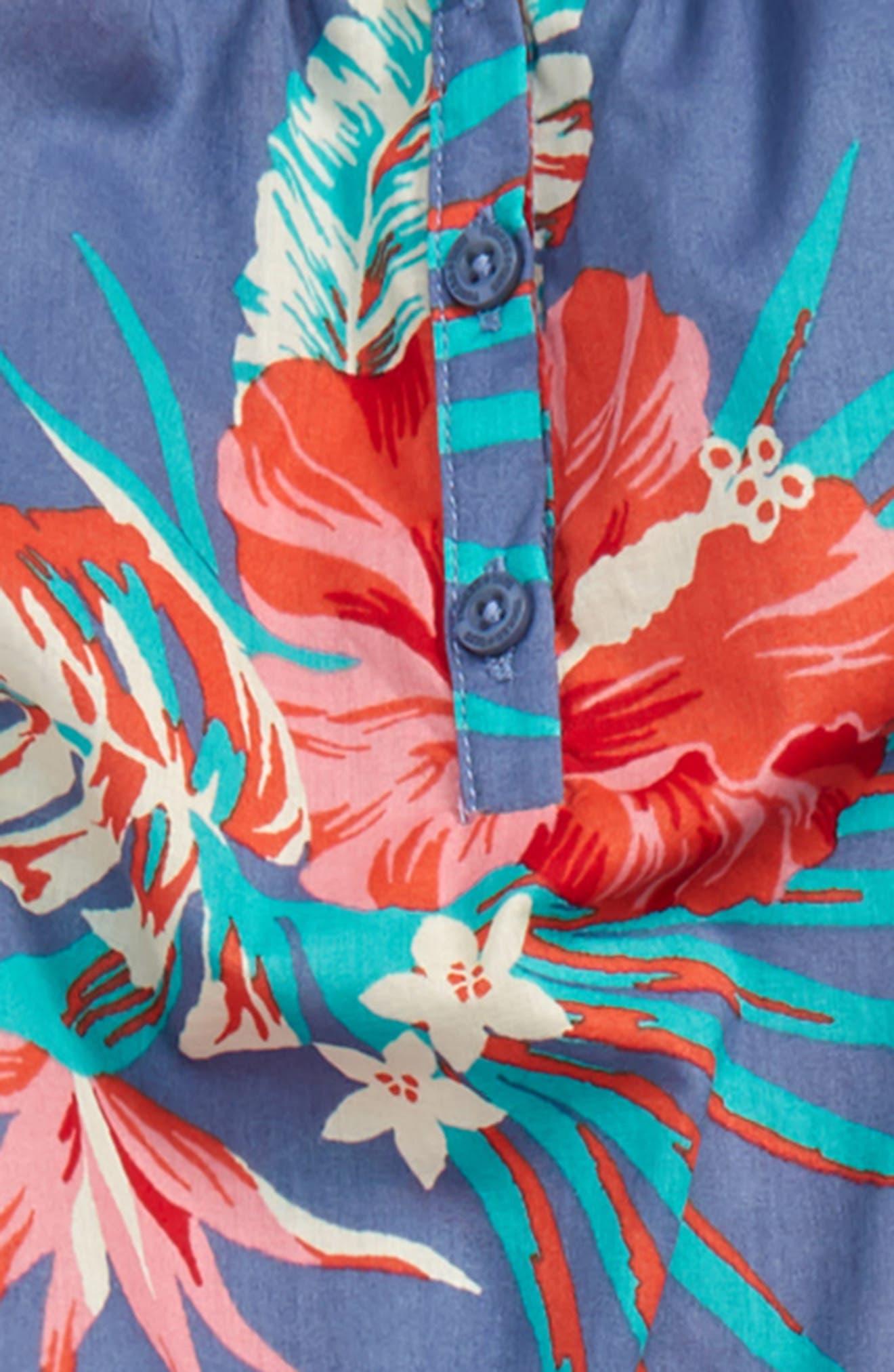 Woven Jumpsuit,                             Alternate thumbnail 2, color,                             Blue Stonewash Tropical Leaves