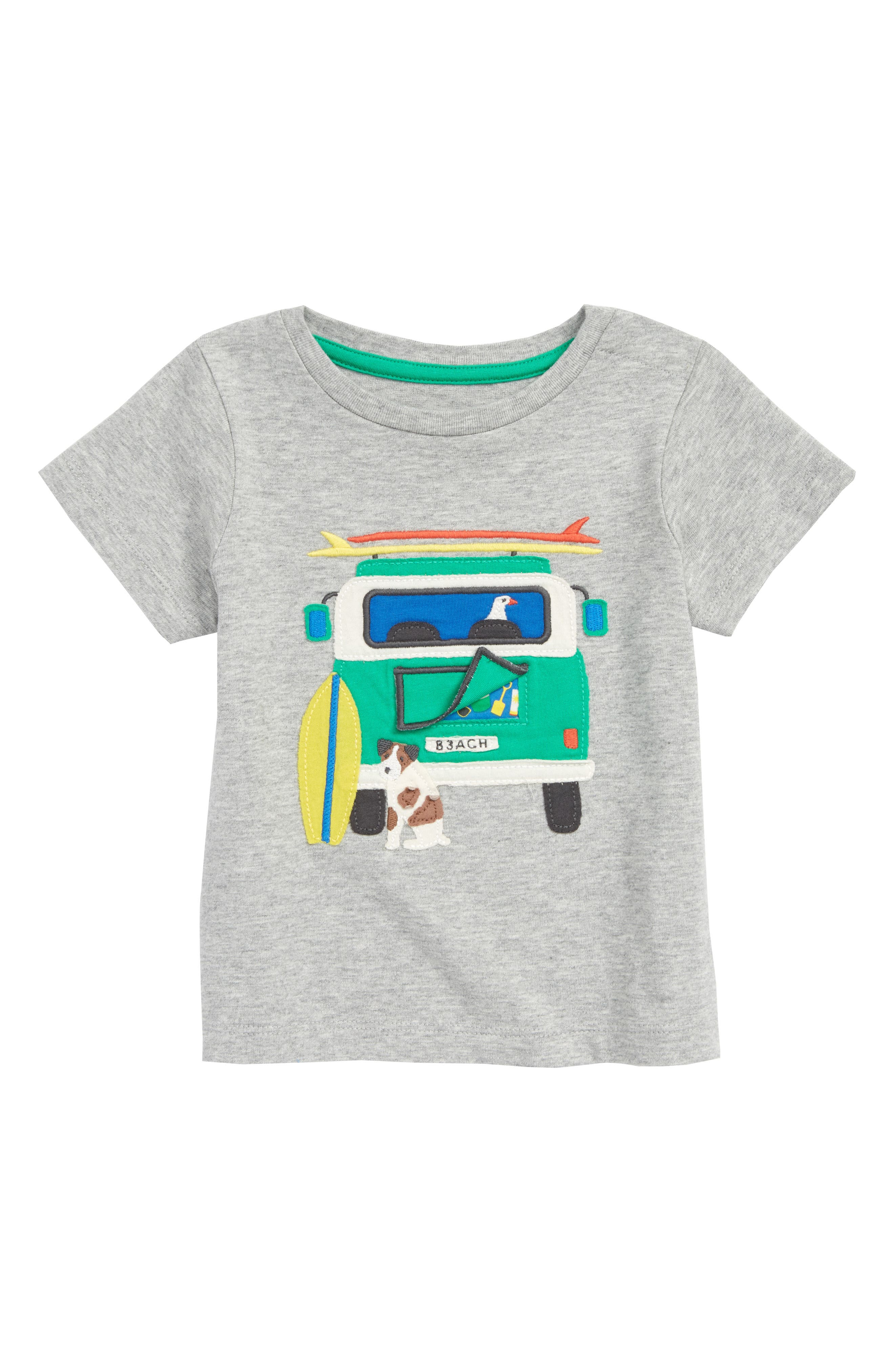 Peekaboo T-Shirt,                             Main thumbnail 1, color,                             Grey Marl