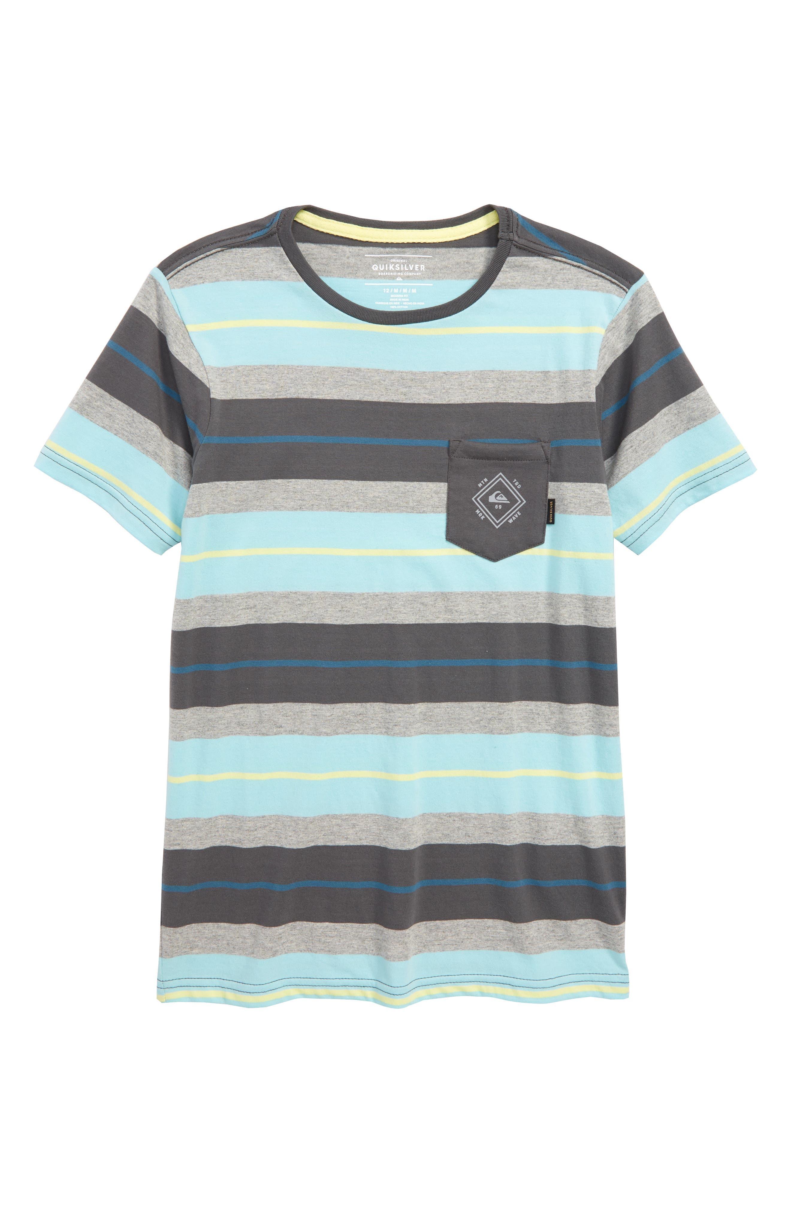 Oloa Stripe T-Shirt,                         Main,                         color, Iron Gate