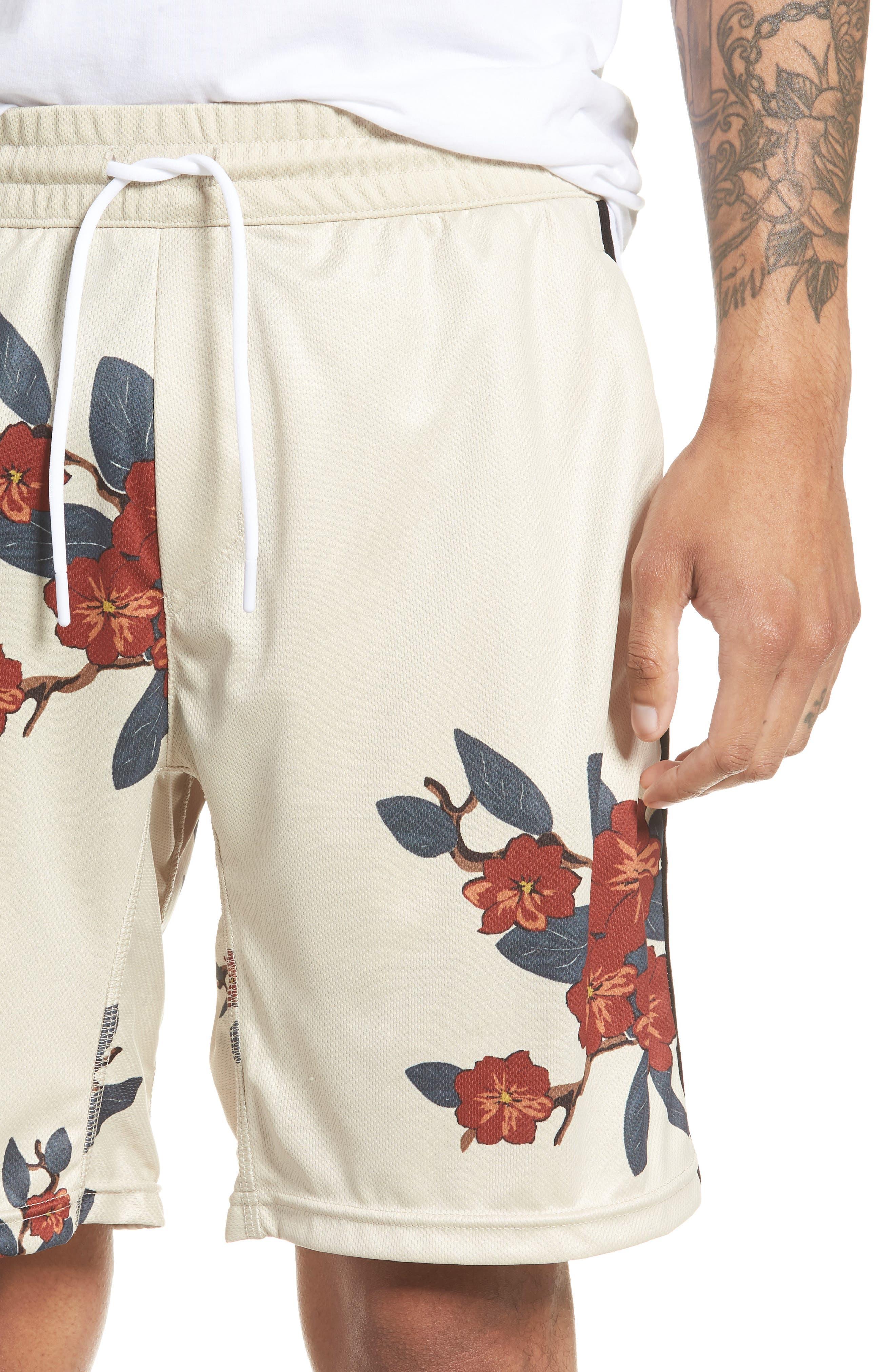 Bloom Sideline Shorts,                             Alternate thumbnail 4, color,                             Natural