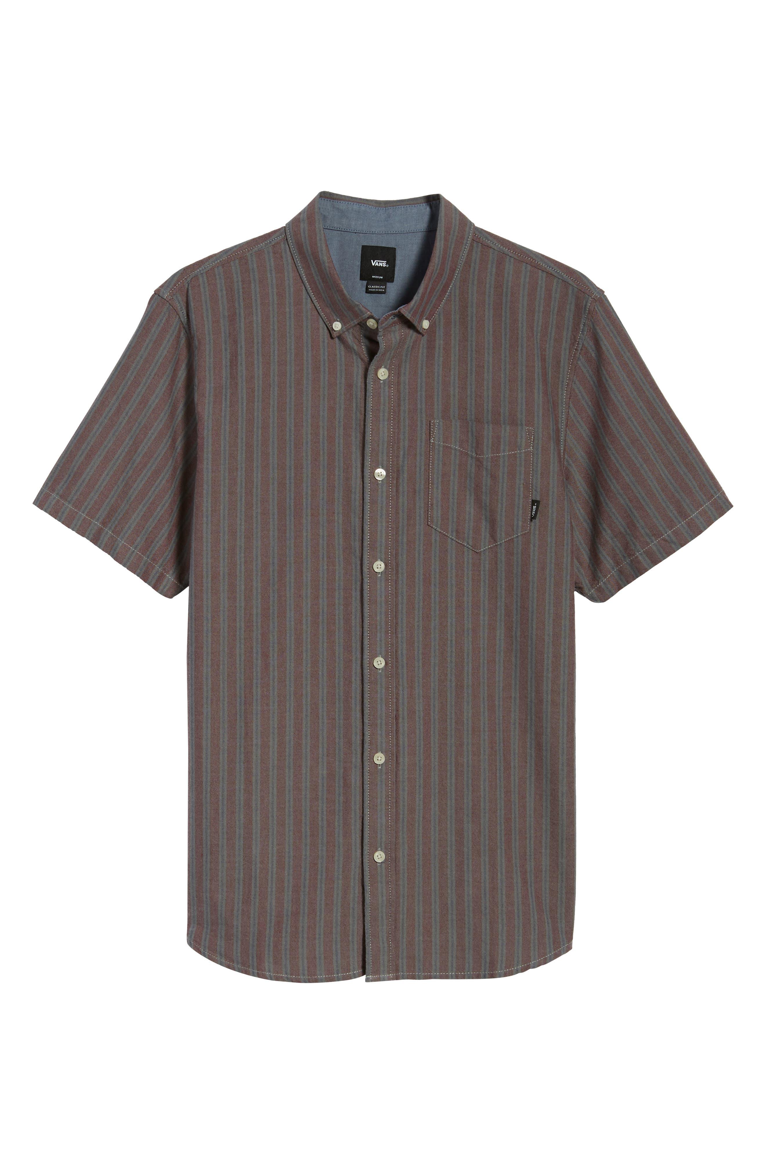 Houser Woven Shirt,                             Alternate thumbnail 6, color,                             Port Royale Stripe