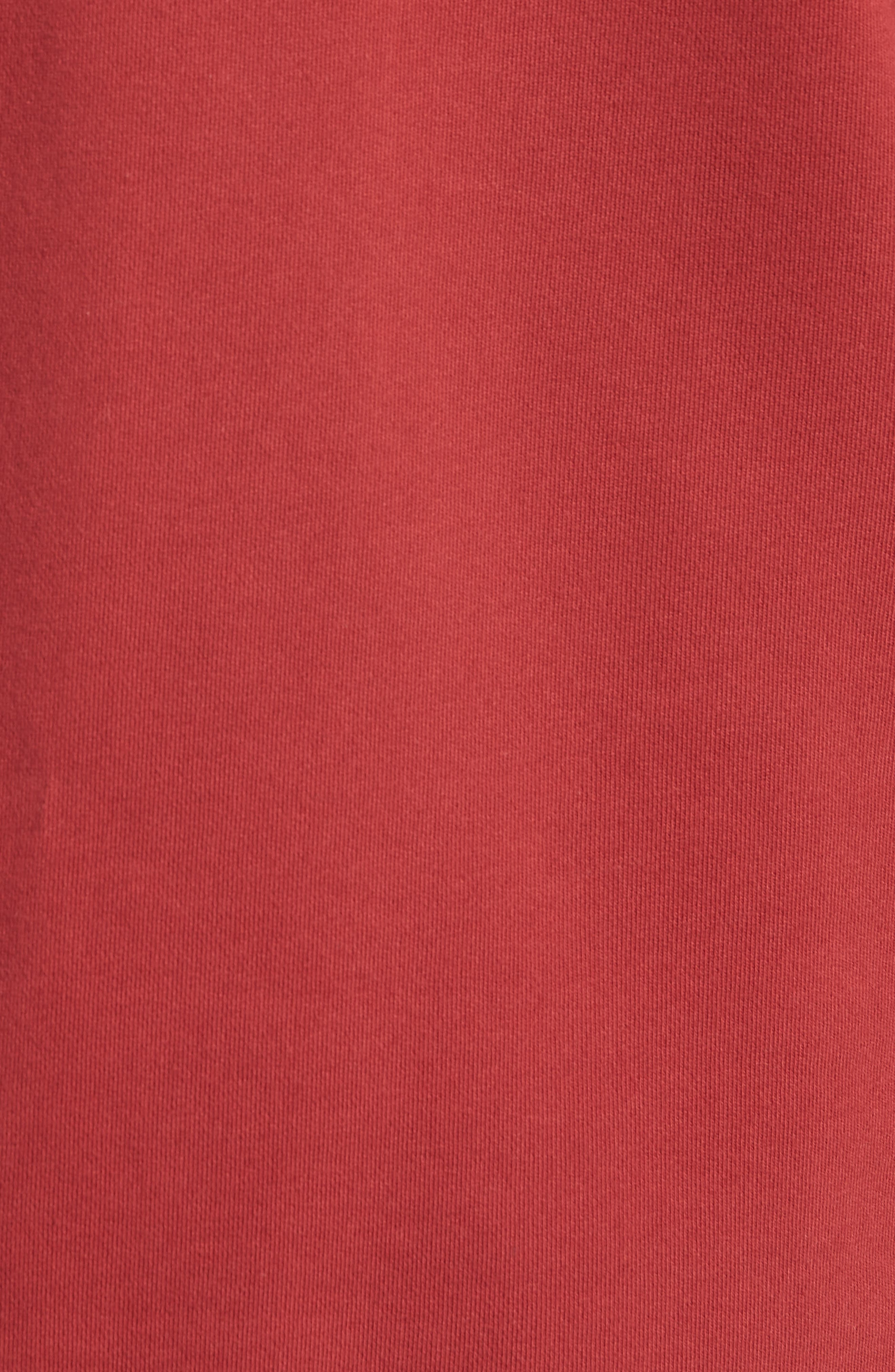 Rugger Hooded Sweatshirt,                             Alternate thumbnail 5, color,                             Dark Cherry