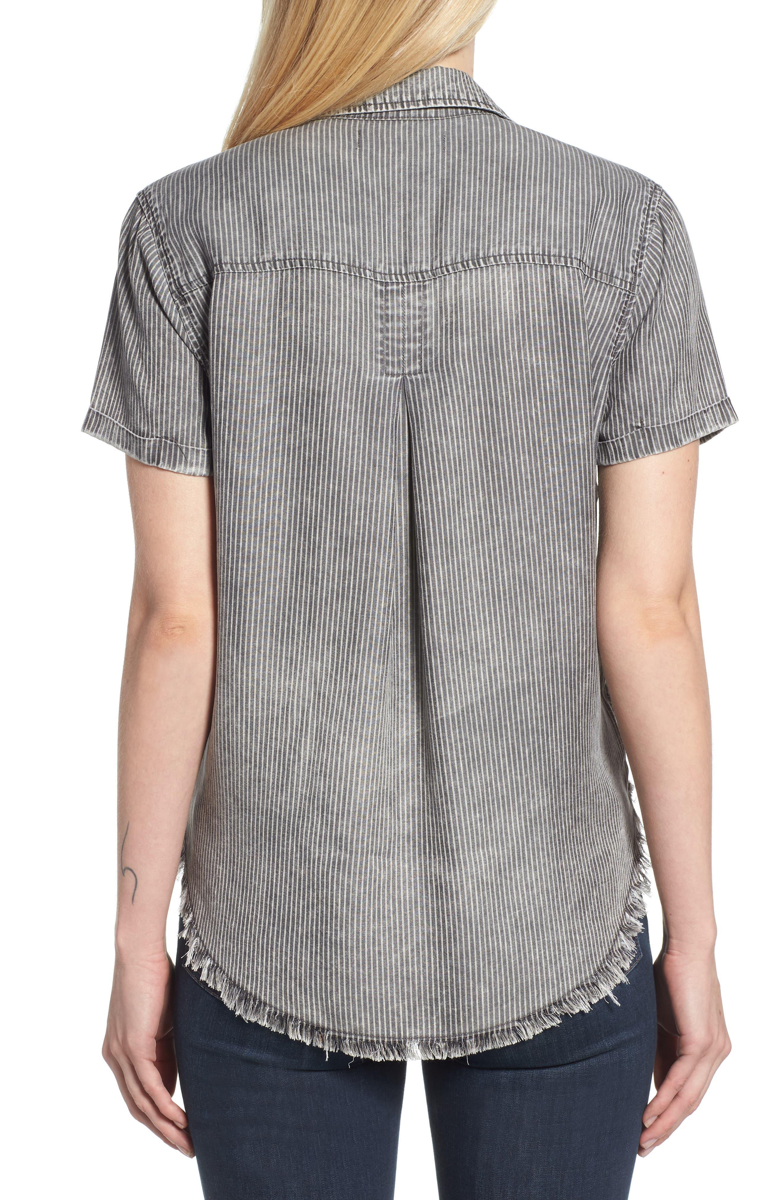 Ticking Stripe Shirt,                             Alternate thumbnail 2, color,                             Grey Rr