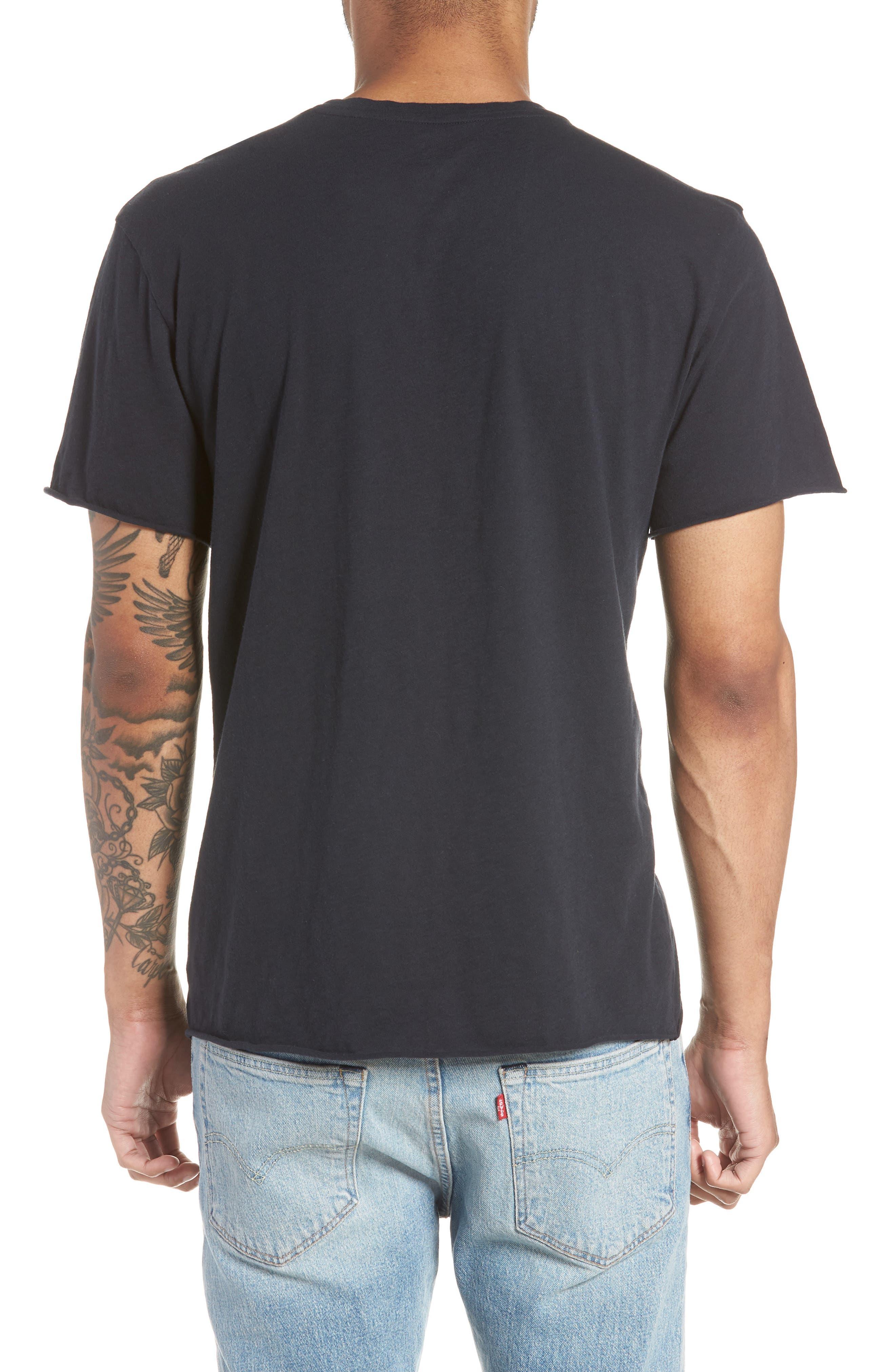Jimi Hendrix Trim Fit T-Shirt,                             Alternate thumbnail 2, color,                             Black Rock Hendrix