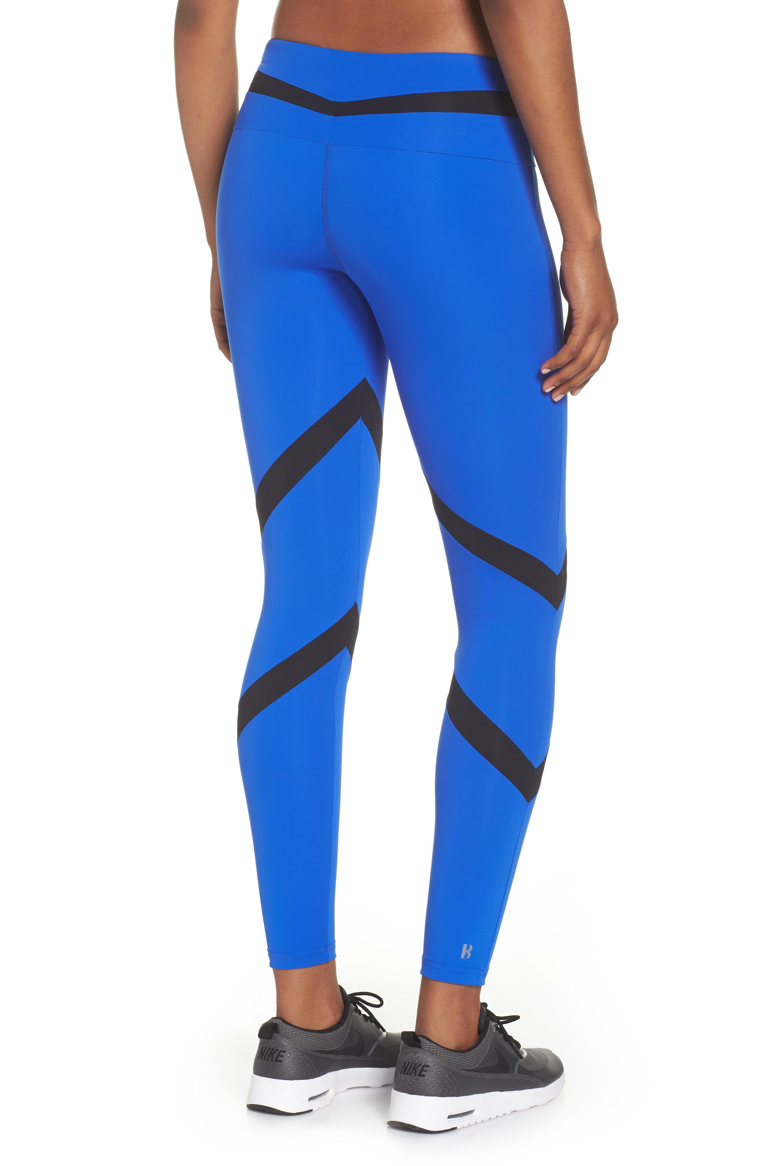 BoomBoom Athletica Tricolor Leggings,                             Alternate thumbnail 2, color,                             Cobalt Blue/ Black